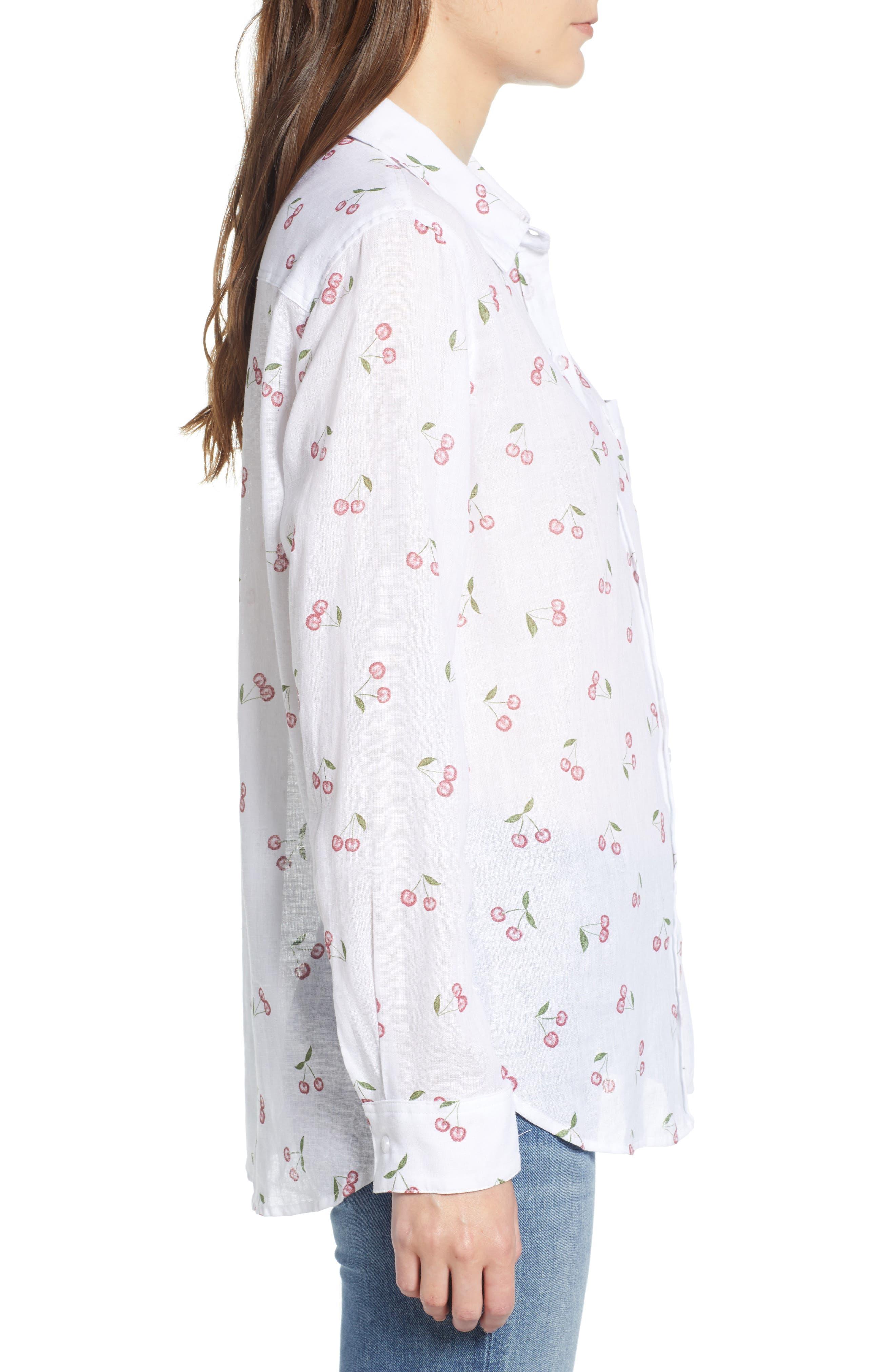 Charli Shirt,                             Alternate thumbnail 6, color,                             White Cherries