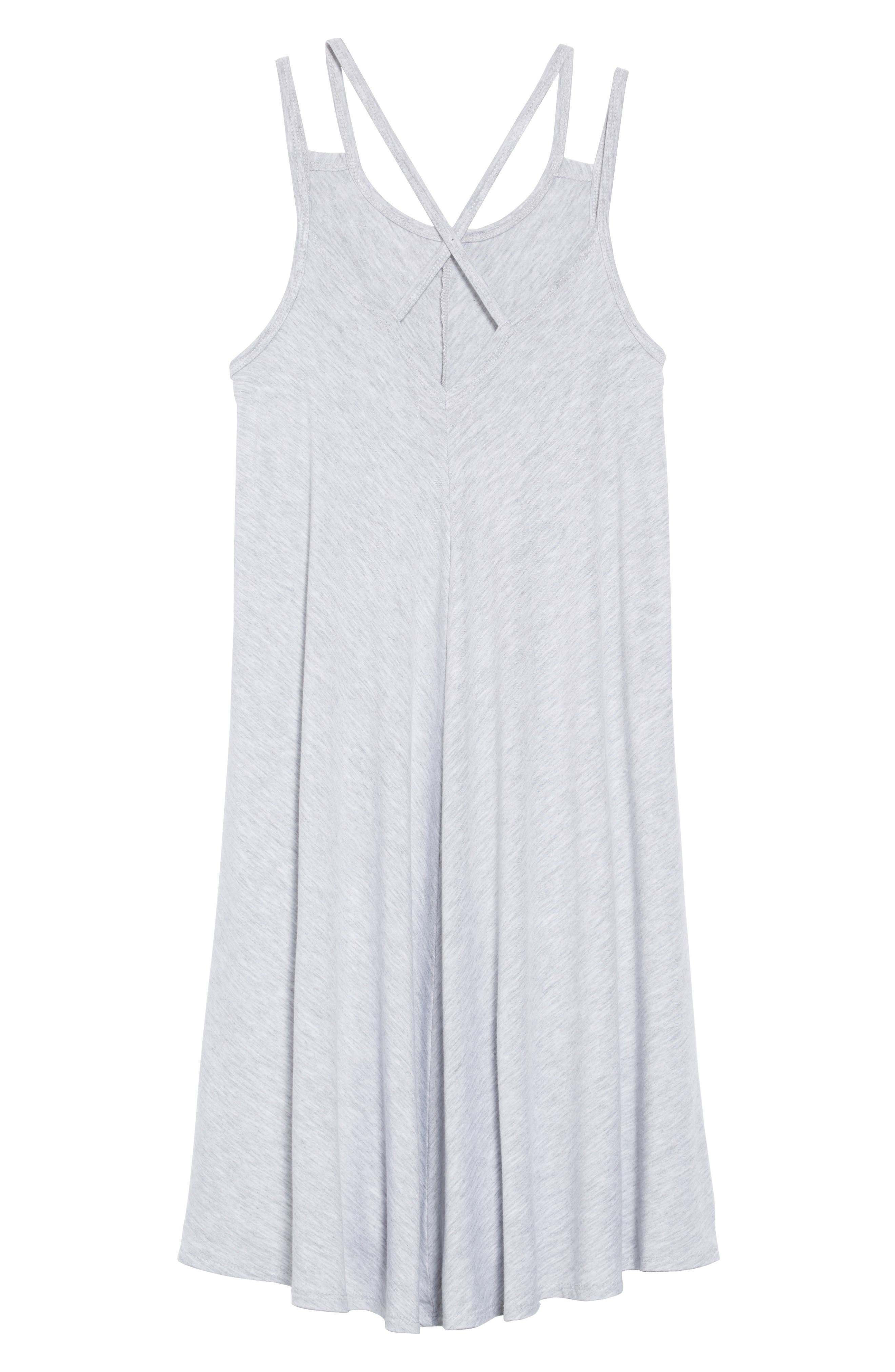 Strappy Dress,                             Alternate thumbnail 2, color,                             Grey Ash Heather