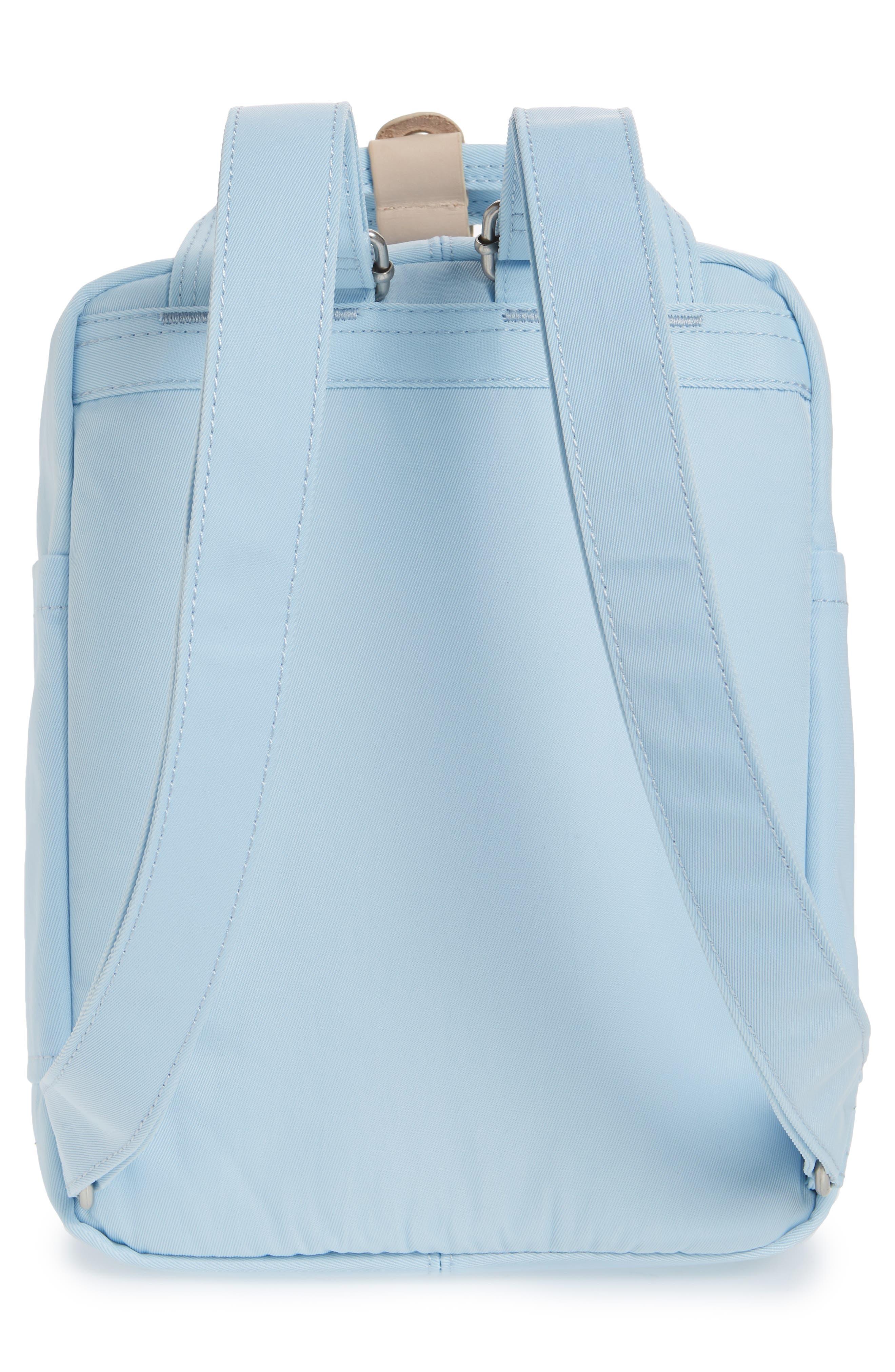 Mini Macaroon Water Resistant Backpack,                             Alternate thumbnail 6, color,                             Iceberg