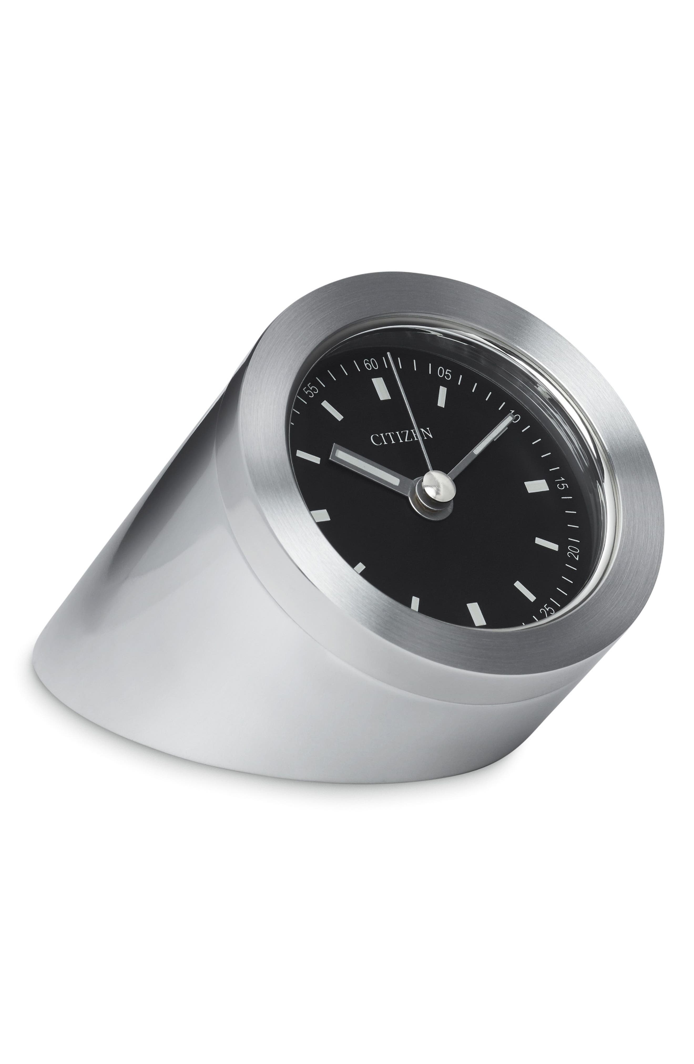 Workplace Clock,                         Main,                         color, Silver