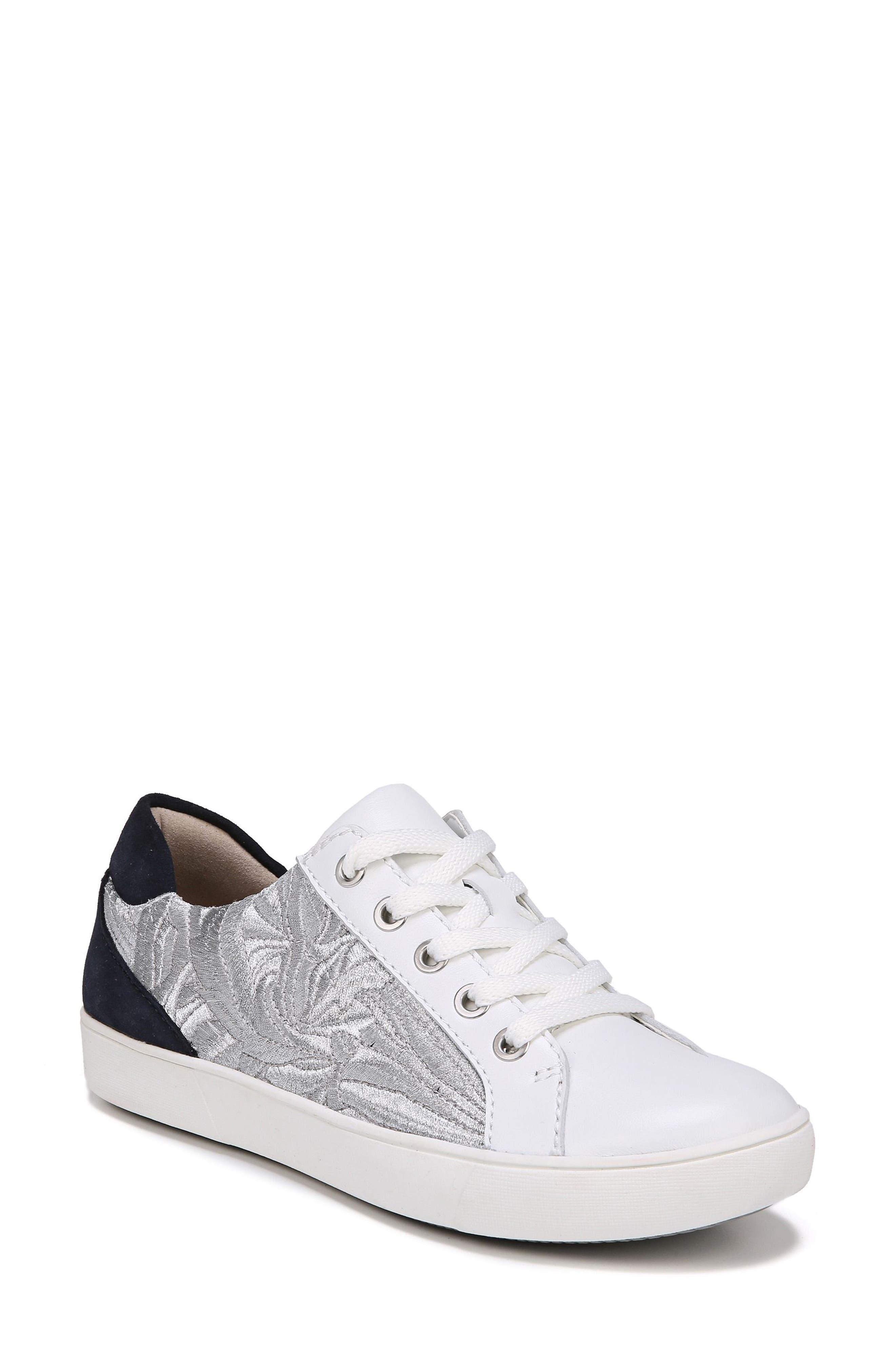 Morrison Sneaker,                             Main thumbnail 1, color,                             White/ Silver Leather