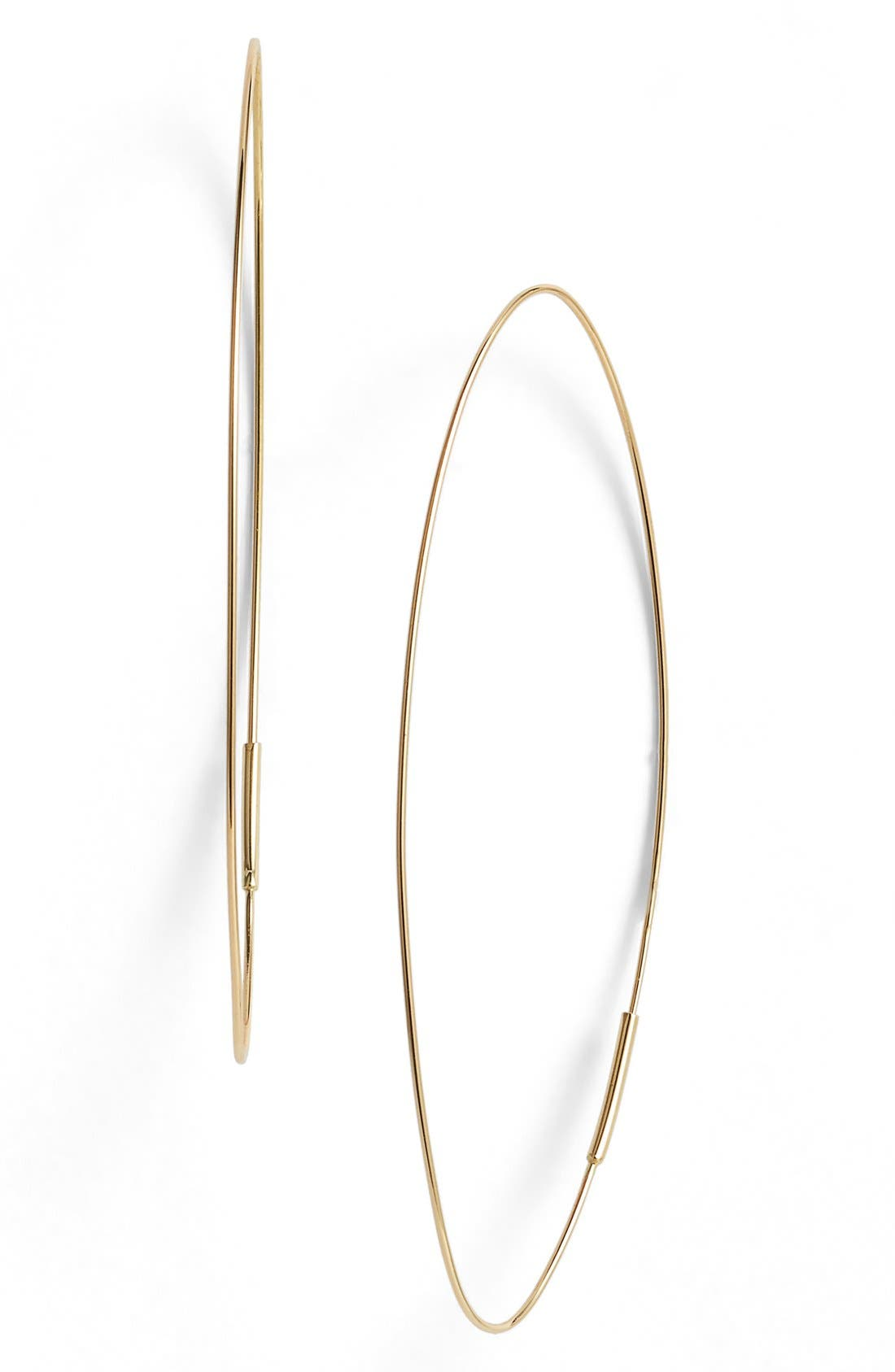 'Magic' Large Oval Hoop Earrings,                         Main,                         color, Yellow Gold