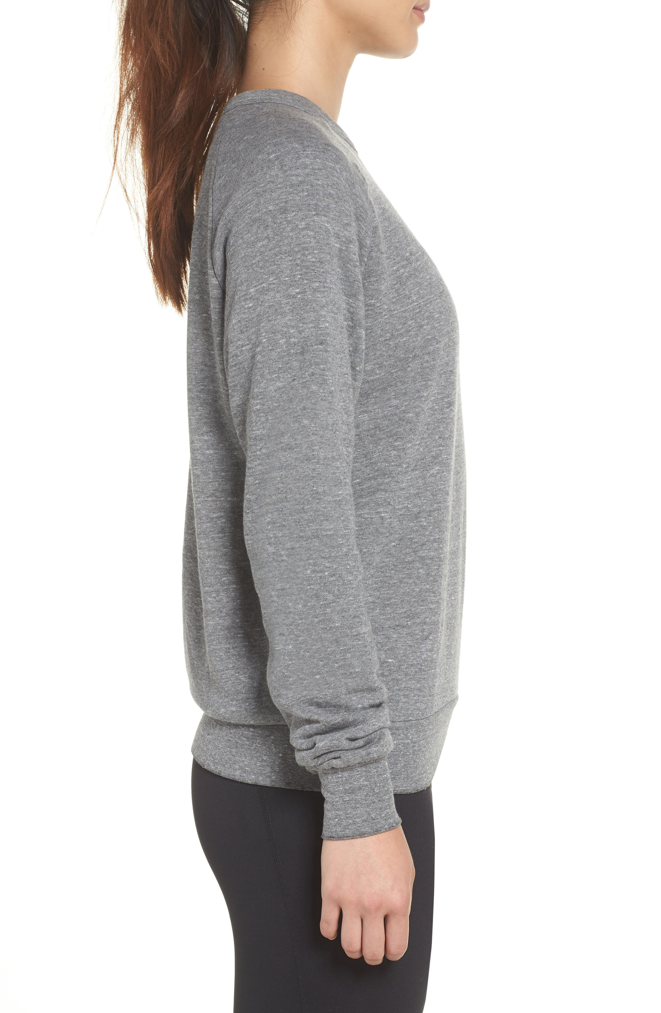 Bolt Zip Hoodie,                             Alternate thumbnail 4, color,                             Heather Grey