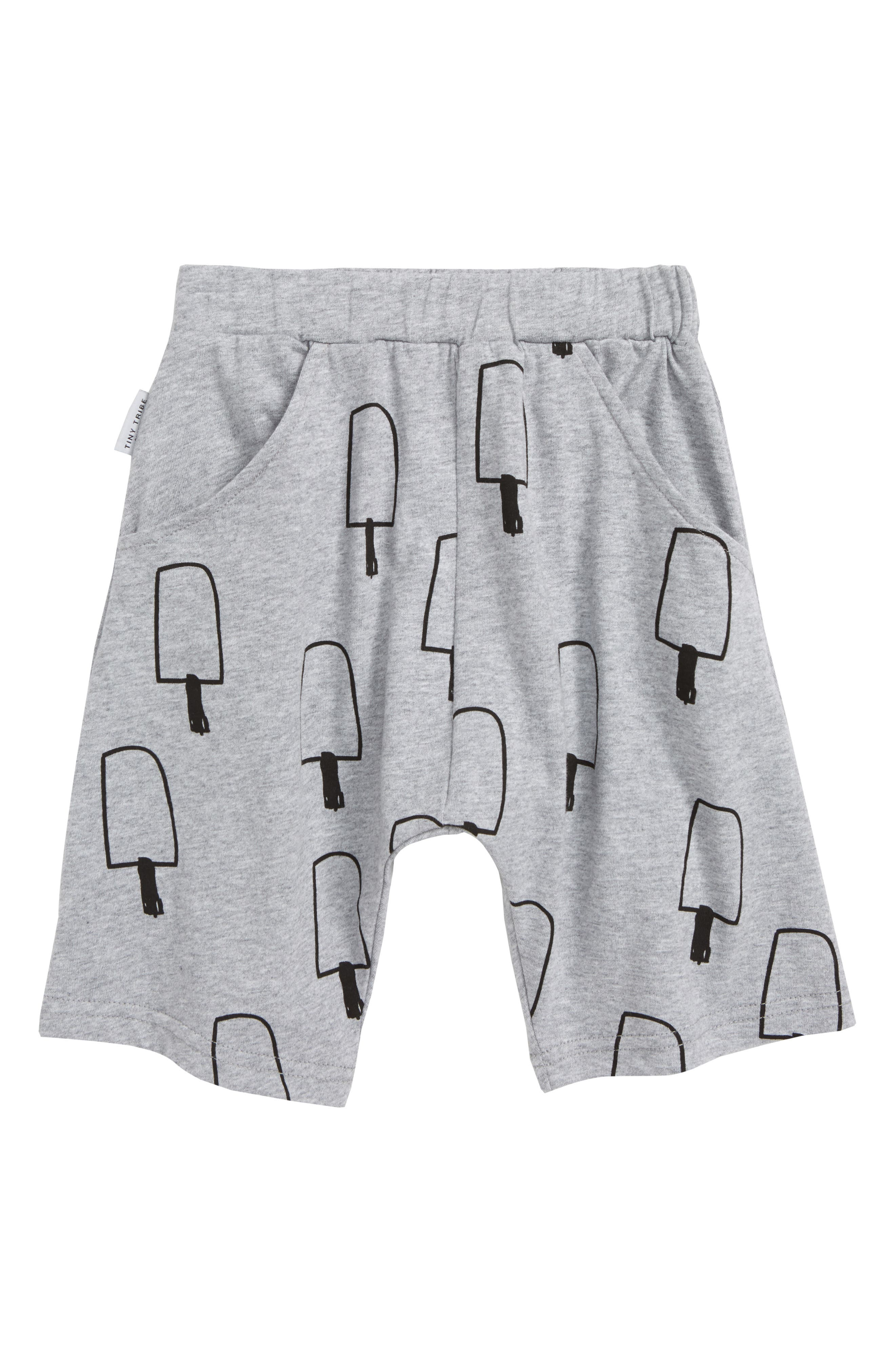 Ice Cream Knit Shorts,                         Main,                         color, Grey