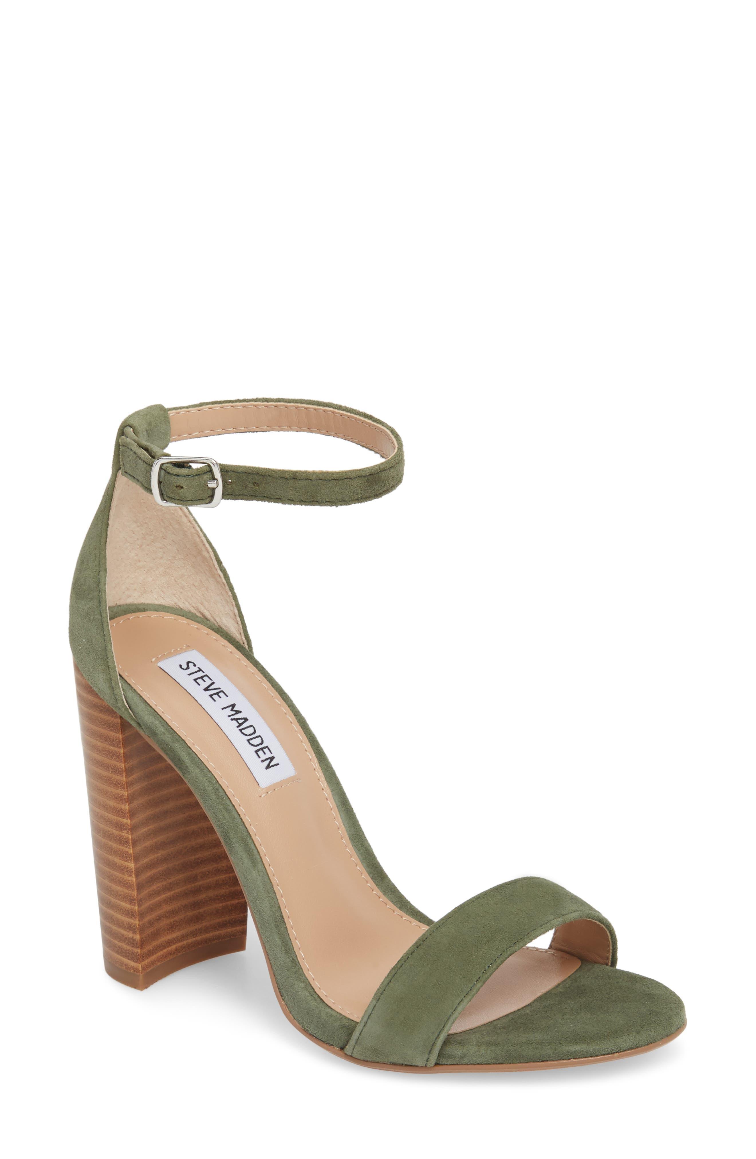 Carrson Sandal,                             Main thumbnail 1, color,                             Olive Multi