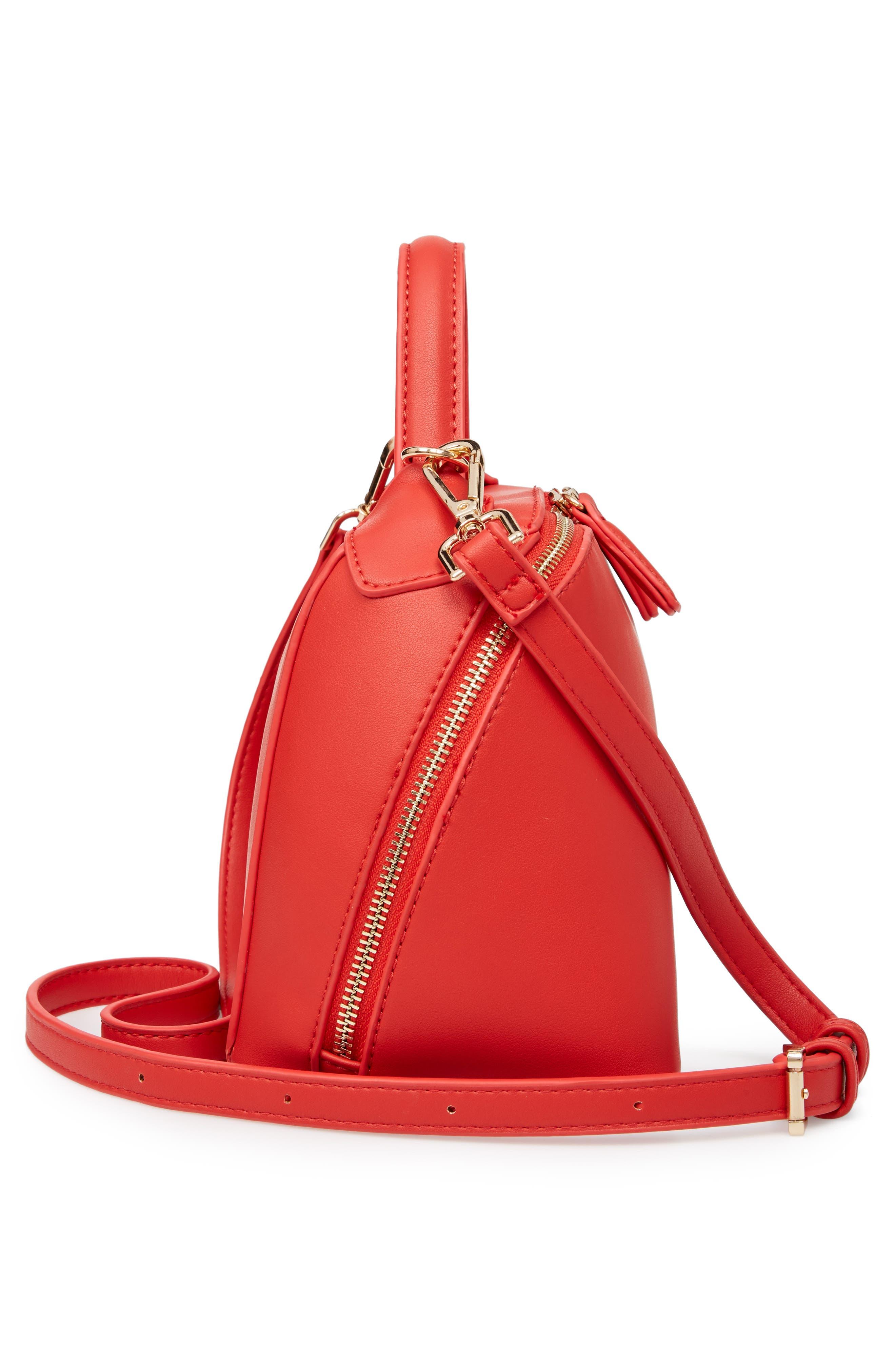 Top Handle Crossbody Bag,                             Alternate thumbnail 4, color,                             Red