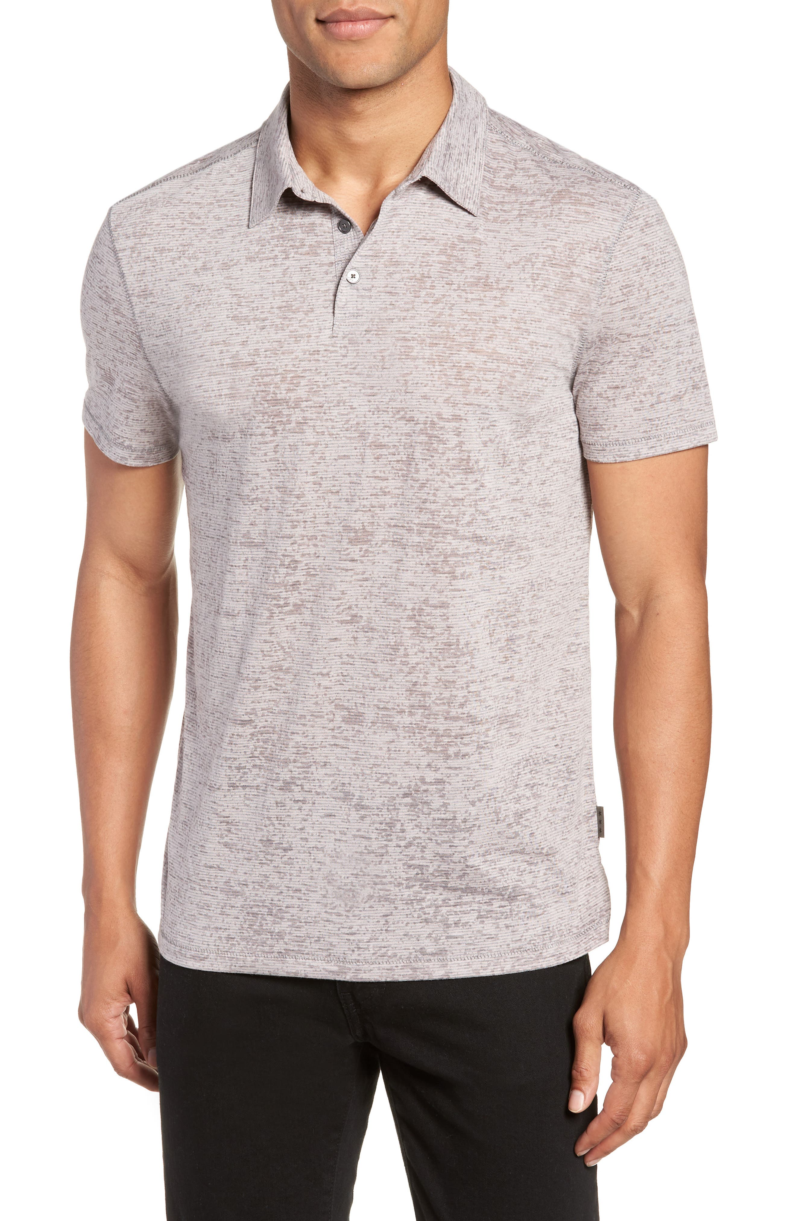 John Varvatos Star USA Burnout Regular Fit Polo