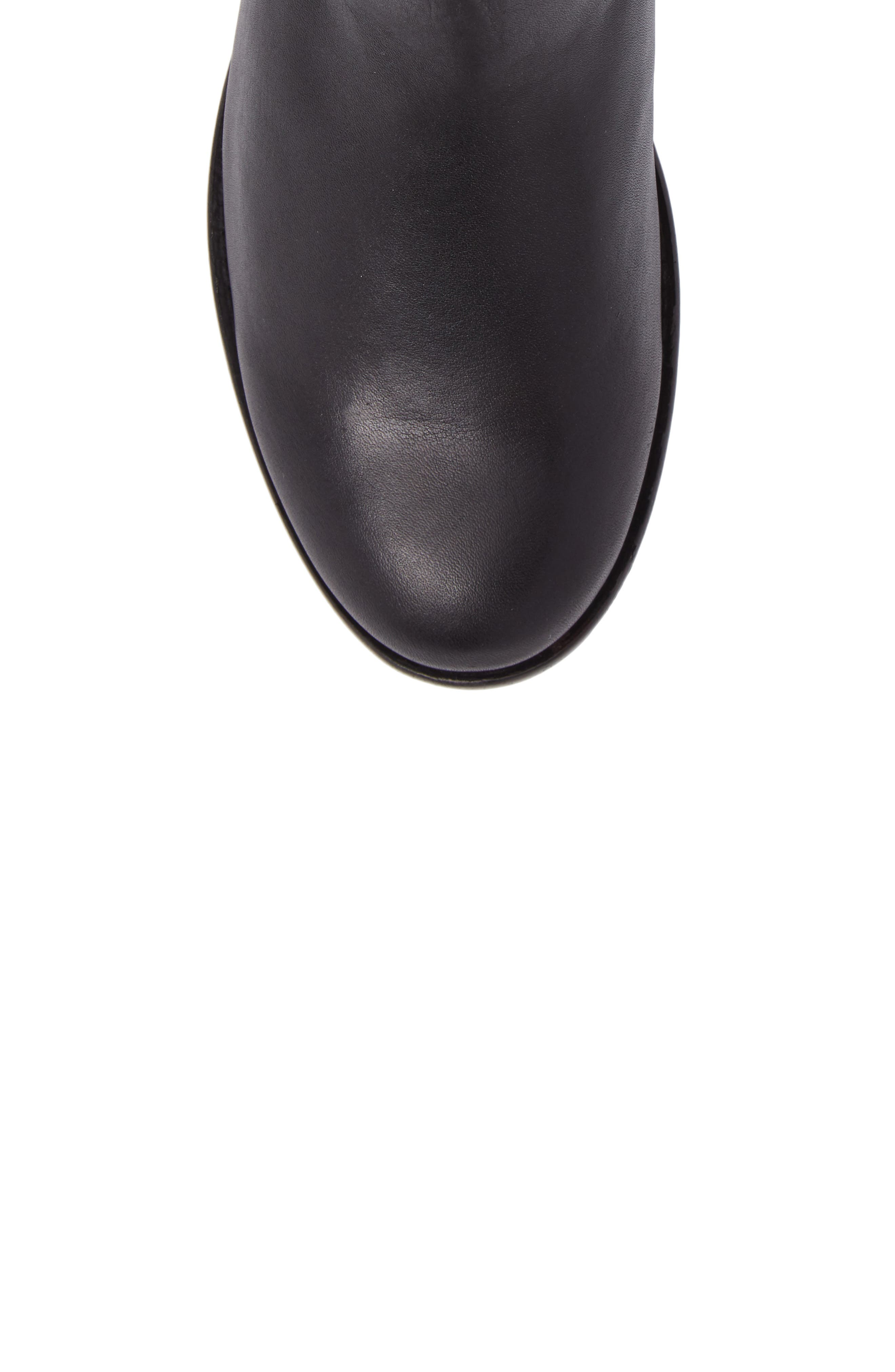 Carly Chelsea Boot,                             Alternate thumbnail 5, color,                             Black Leather