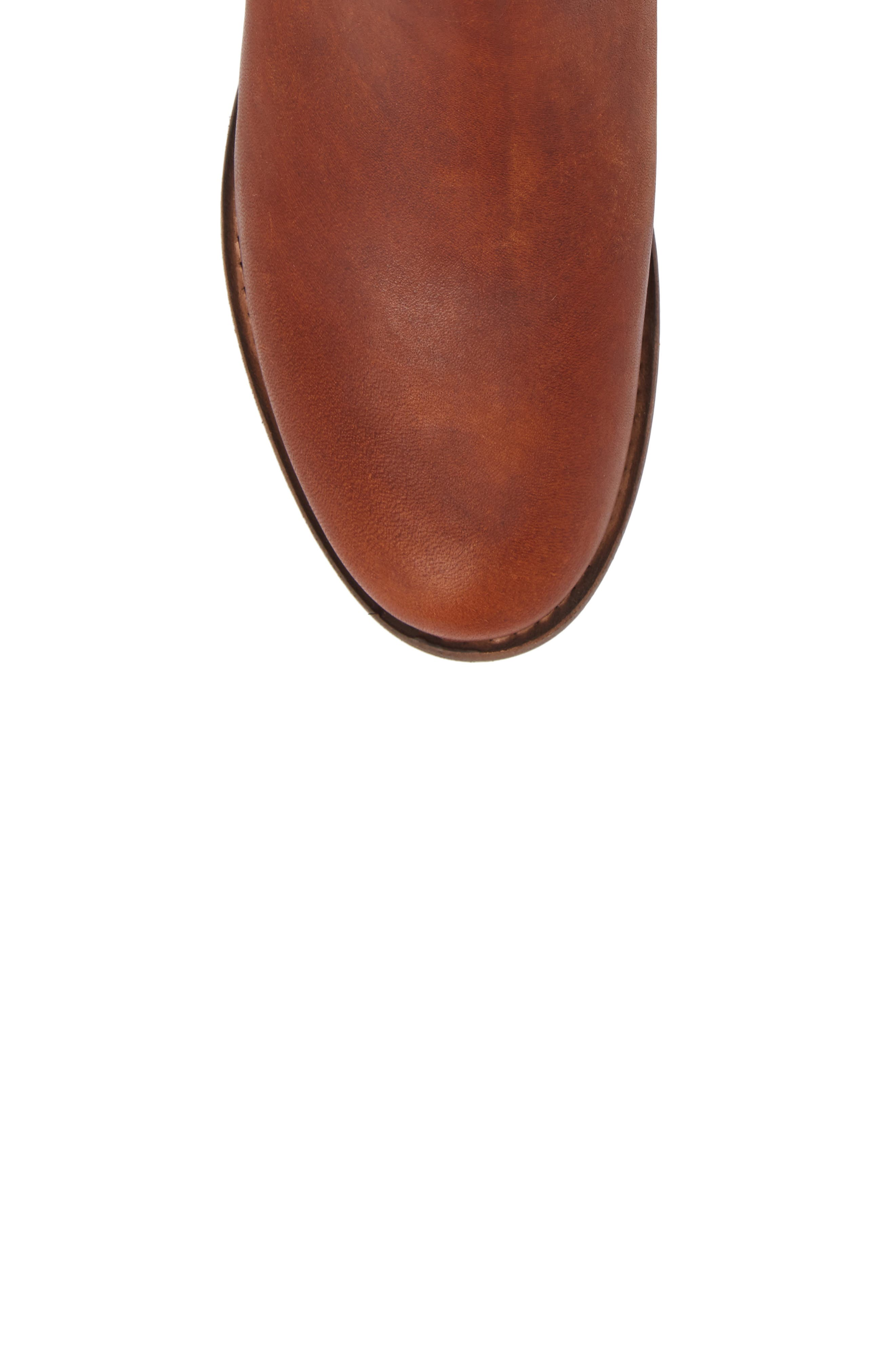 Carly Chelsea Boot,                             Alternate thumbnail 5, color,                             Cognac Leather
