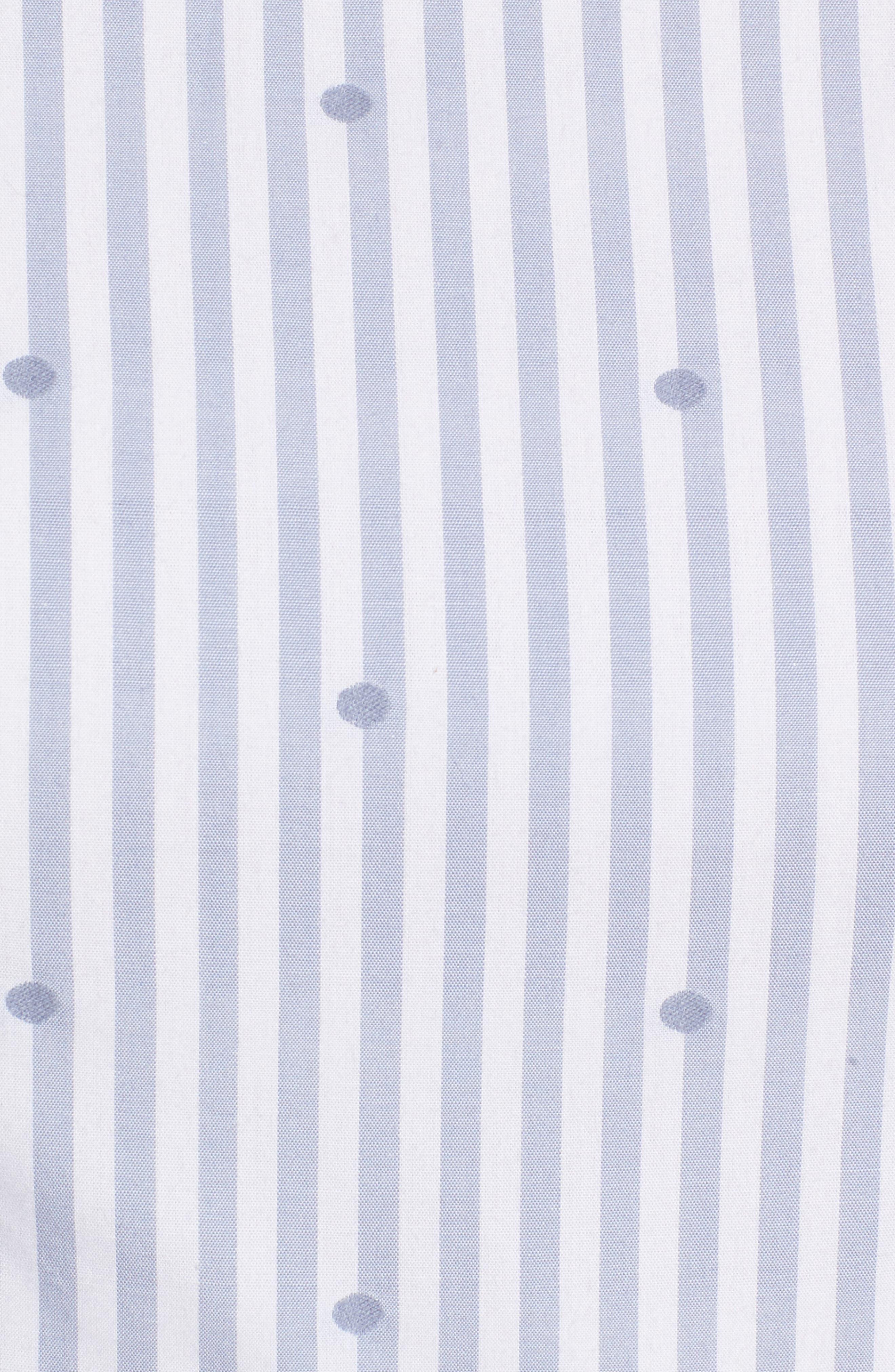 Stripe & Dot Cotton Dress,                             Alternate thumbnail 5, color,                             Eve Dot Stripe