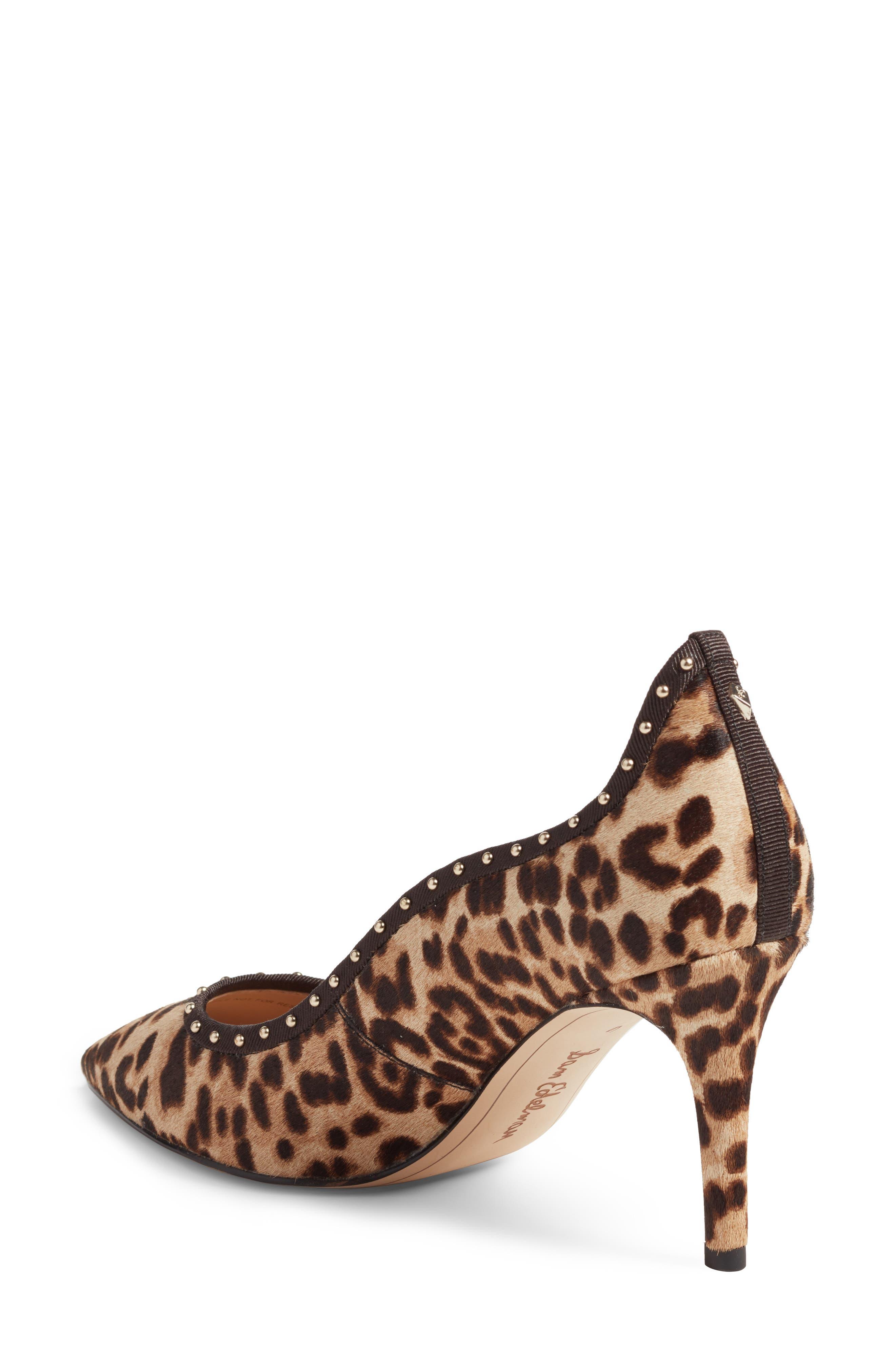 Tiana Genuine Calf Hair Pump,                             Alternate thumbnail 2, color,                             Leopard Print Calf Hair