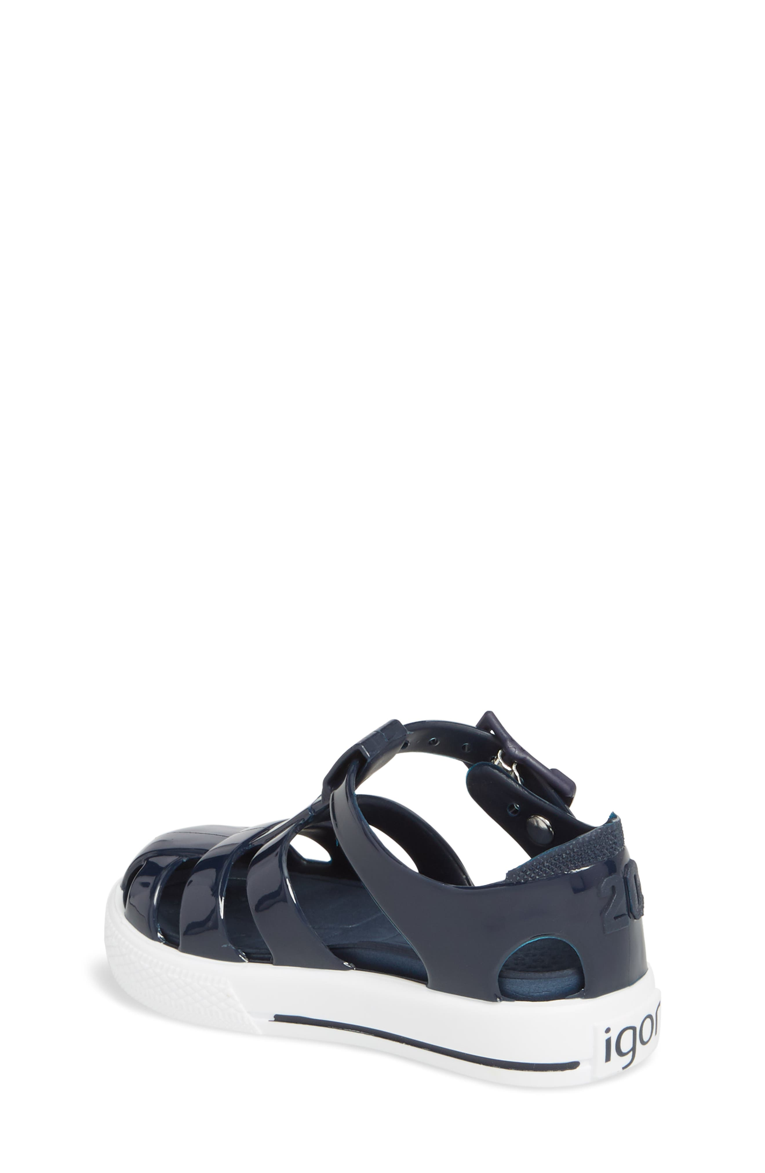 Tenis Fisherman Jelly Sandal,                             Alternate thumbnail 2, color,                             Navy