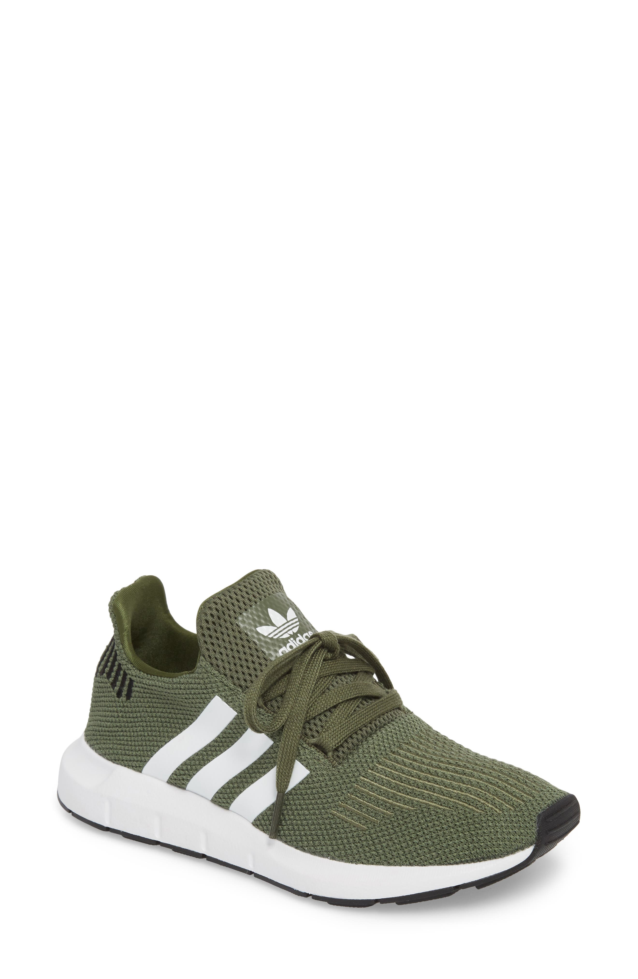 Swift Run Sneaker,                             Main thumbnail 1, color,                             Base Green/ White/ Black