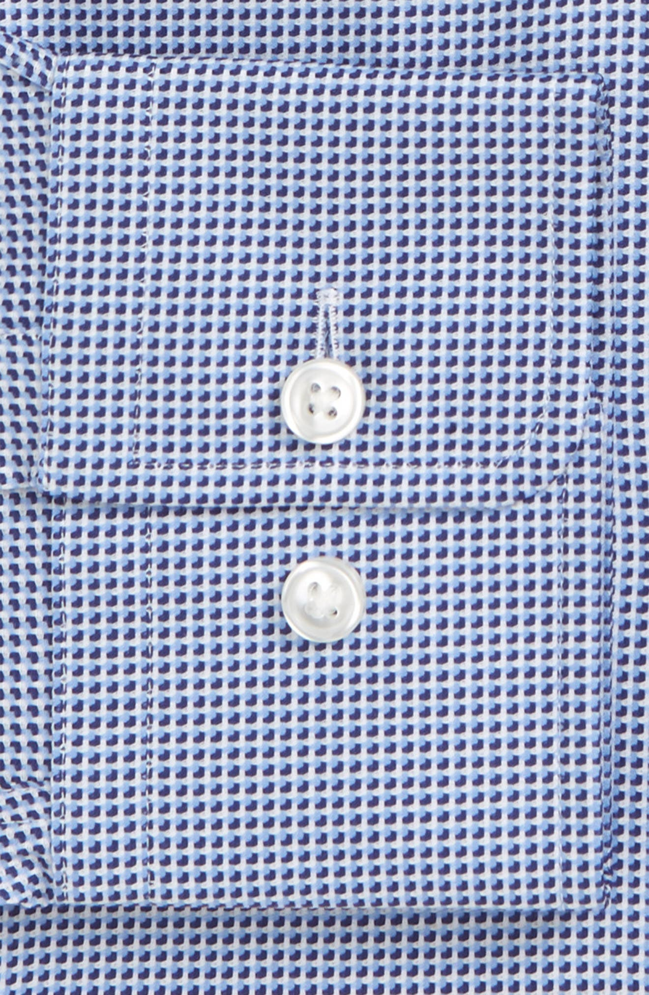 Sharp Fit Mark Micro Grid Dress Shirt,                             Alternate thumbnail 5, color,                             Navy