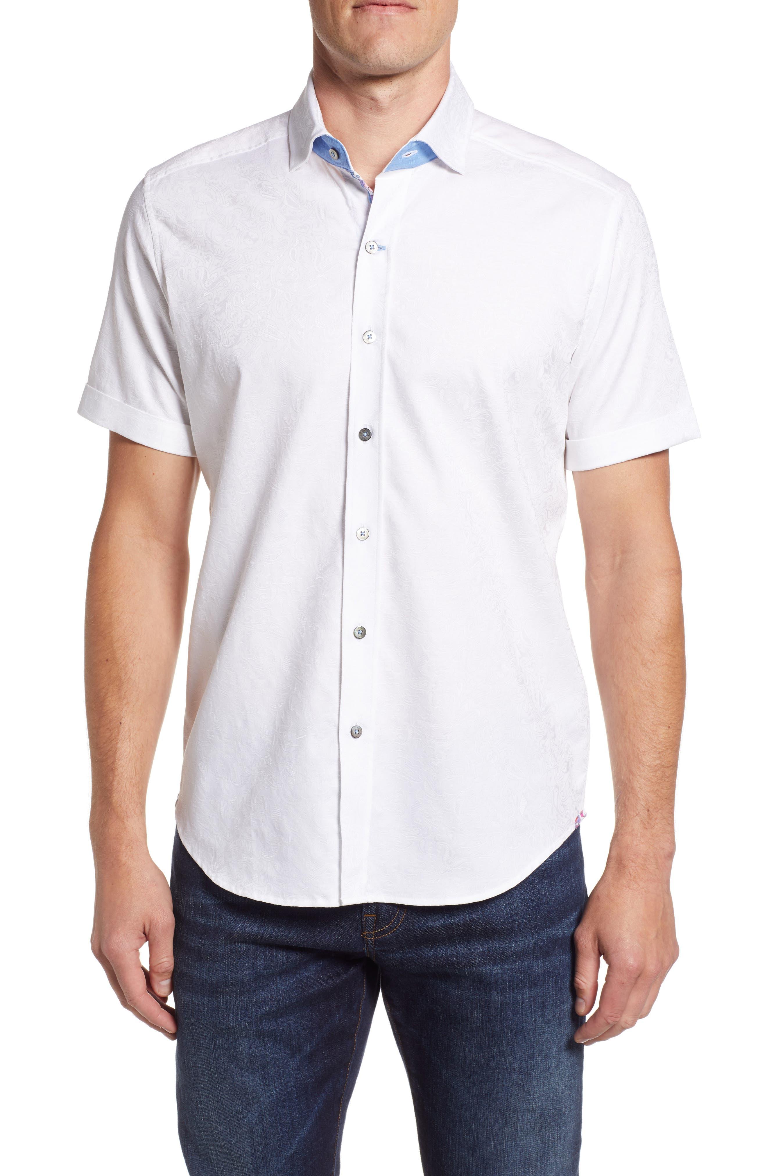 Abbott Sport Shirt,                         Main,                         color, White