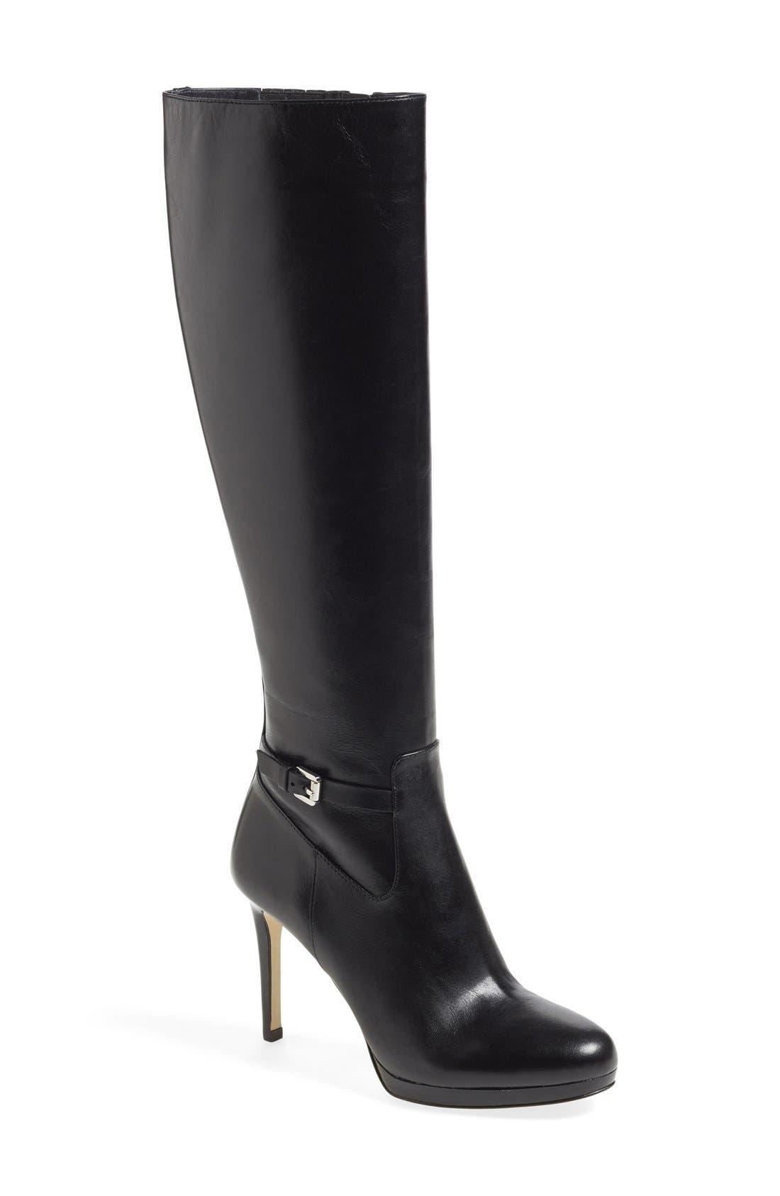 Main Image - MICHAEL Michael Kors 'Woods' Knee High Platform Boot (Women) (Nordstrom Exclusive)