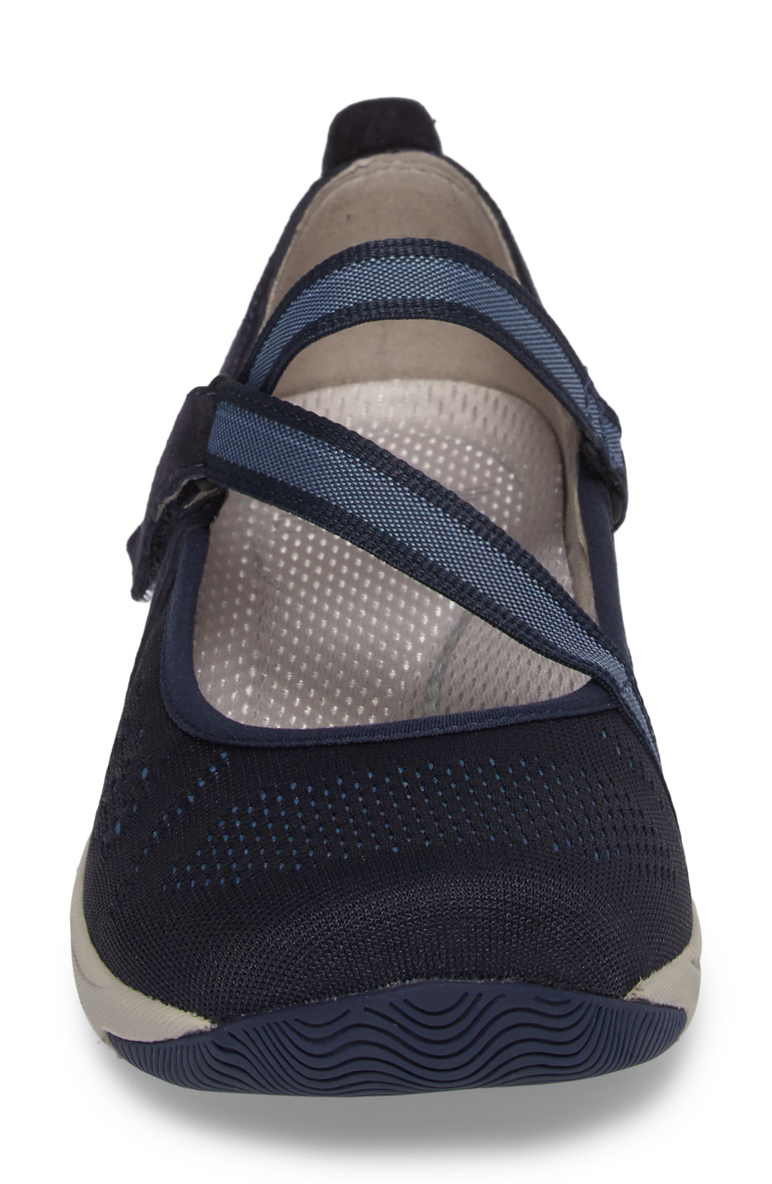 Haven Mary Jane Sneaker,                             Alternate thumbnail 4, color,                             Navy Suede