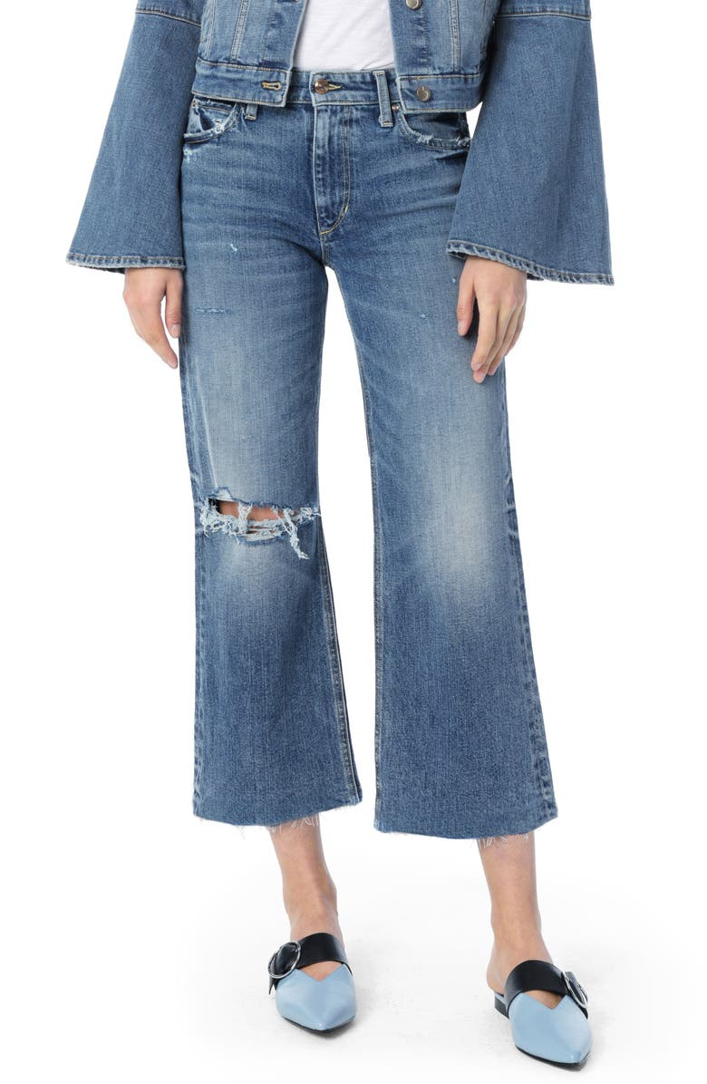 Wyatt Ripped Crop Flare Jeans