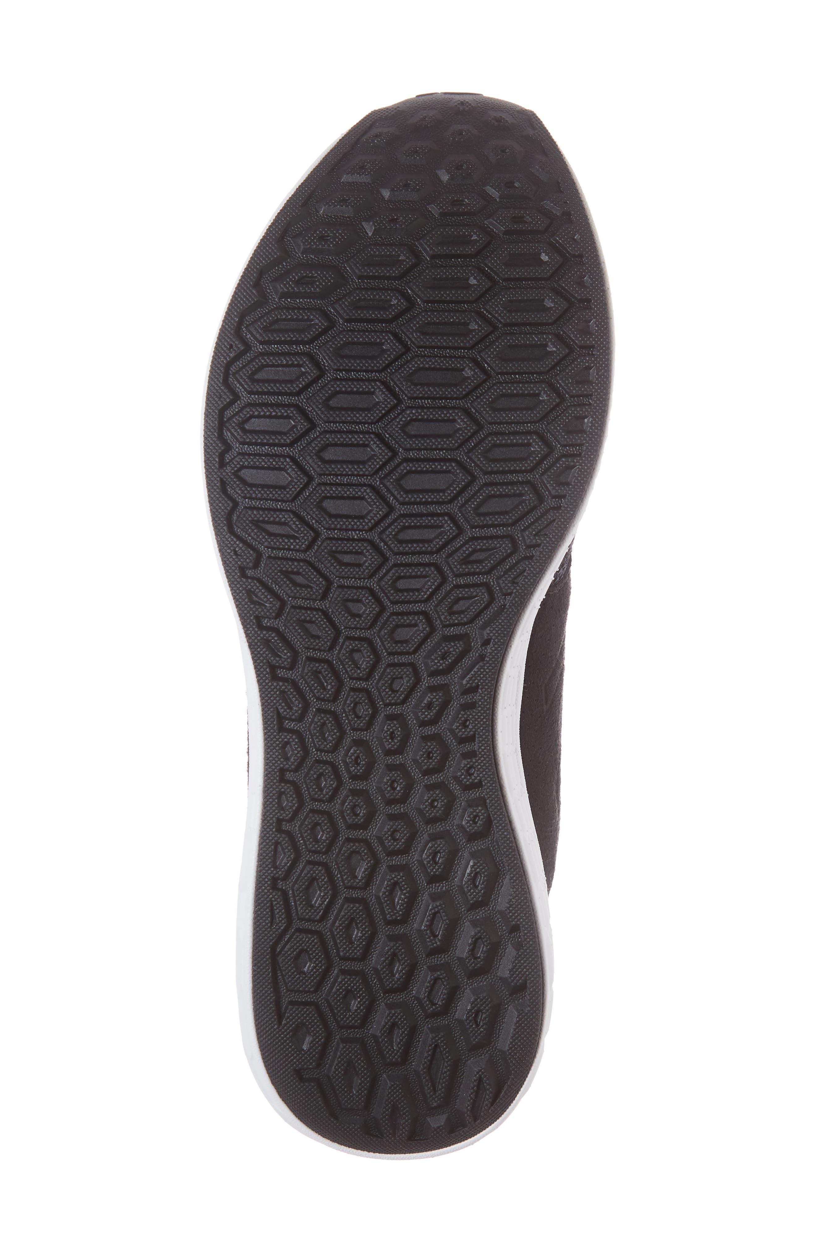 Fresh Foam Cruz v2 Knit Running Shoe,                             Alternate thumbnail 3, color,                             Black/ White