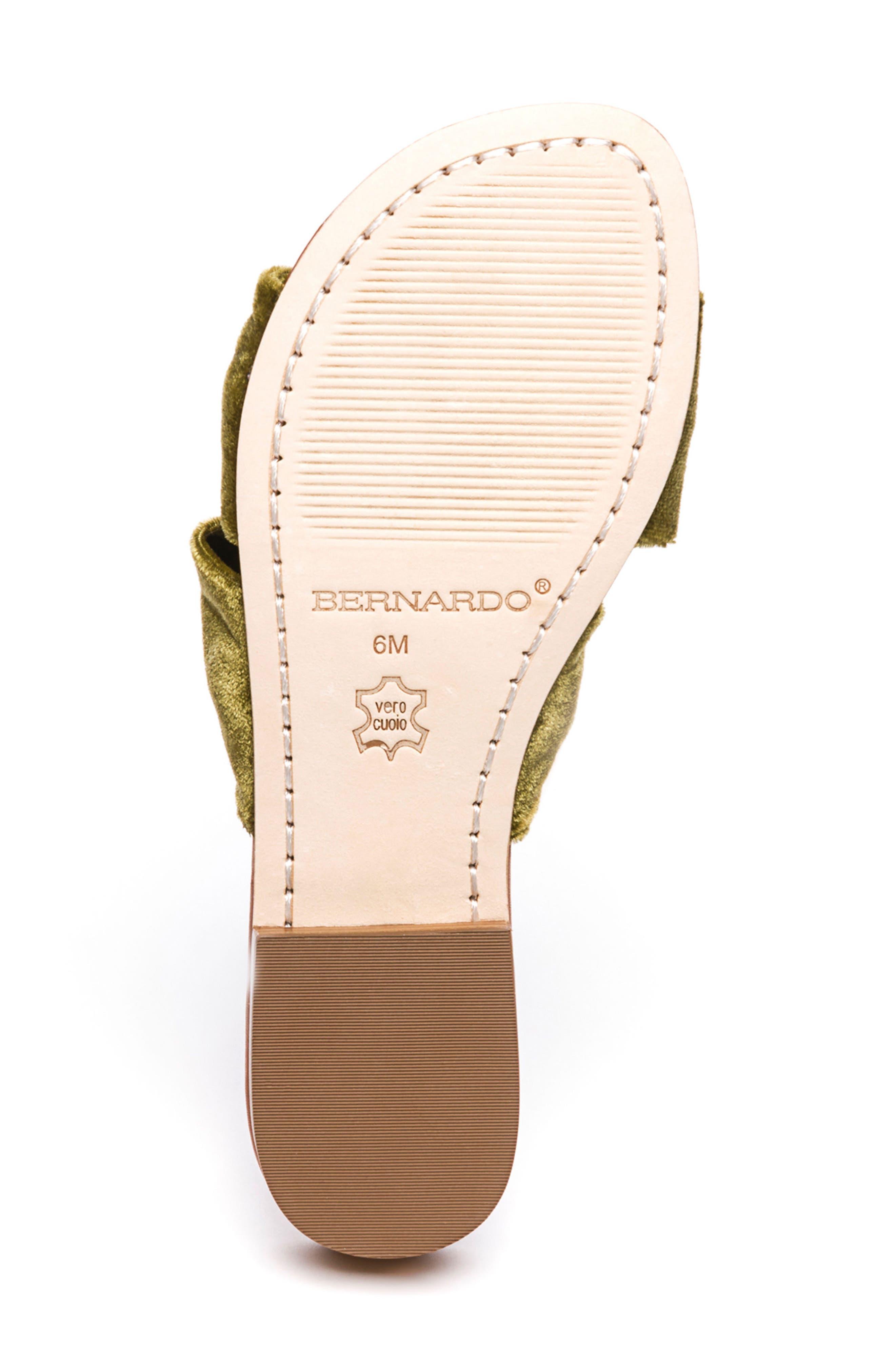 Bernardo Tiffany Knotted Slide Sandal,                             Alternate thumbnail 6, color,                             Clasico Velvet