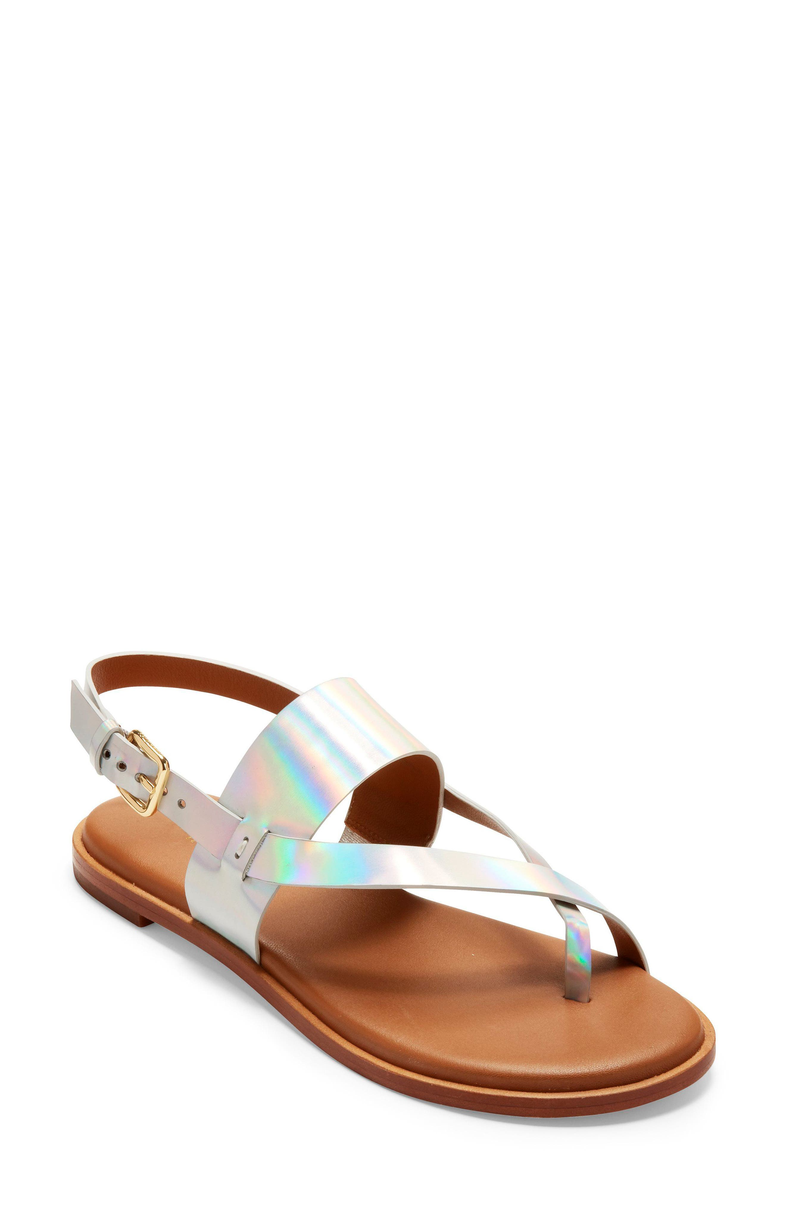 Anica Sandal,                         Main,                         color, Iridescent Leather