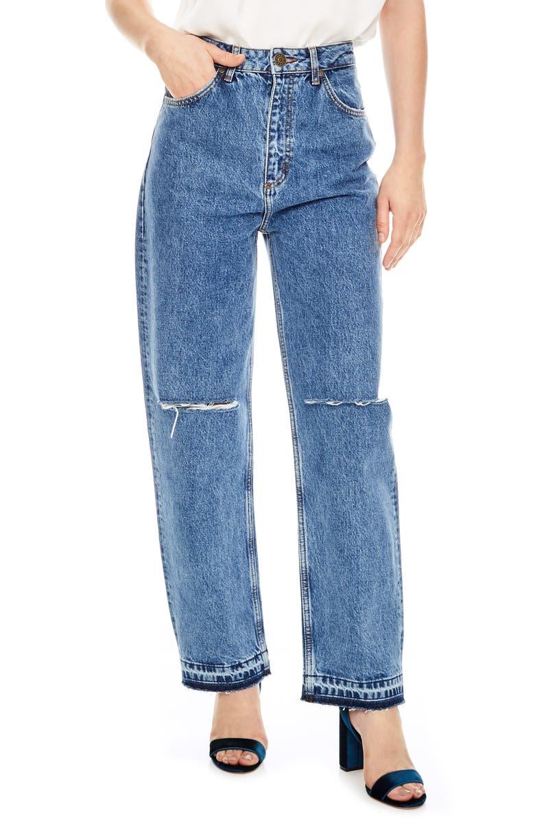 Fluffy Straight Leg Jeans