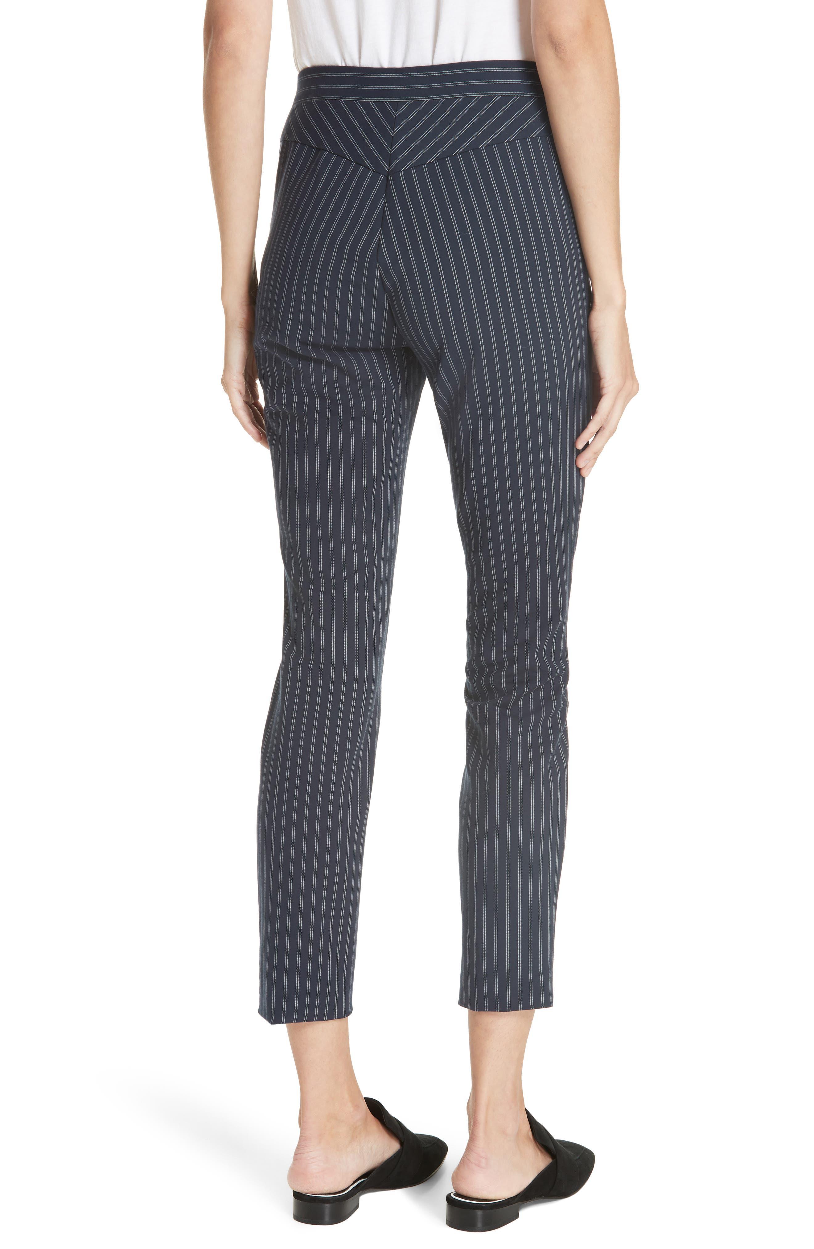 Simone Pinstripe Pants,                             Alternate thumbnail 2, color,                             Navy/ White