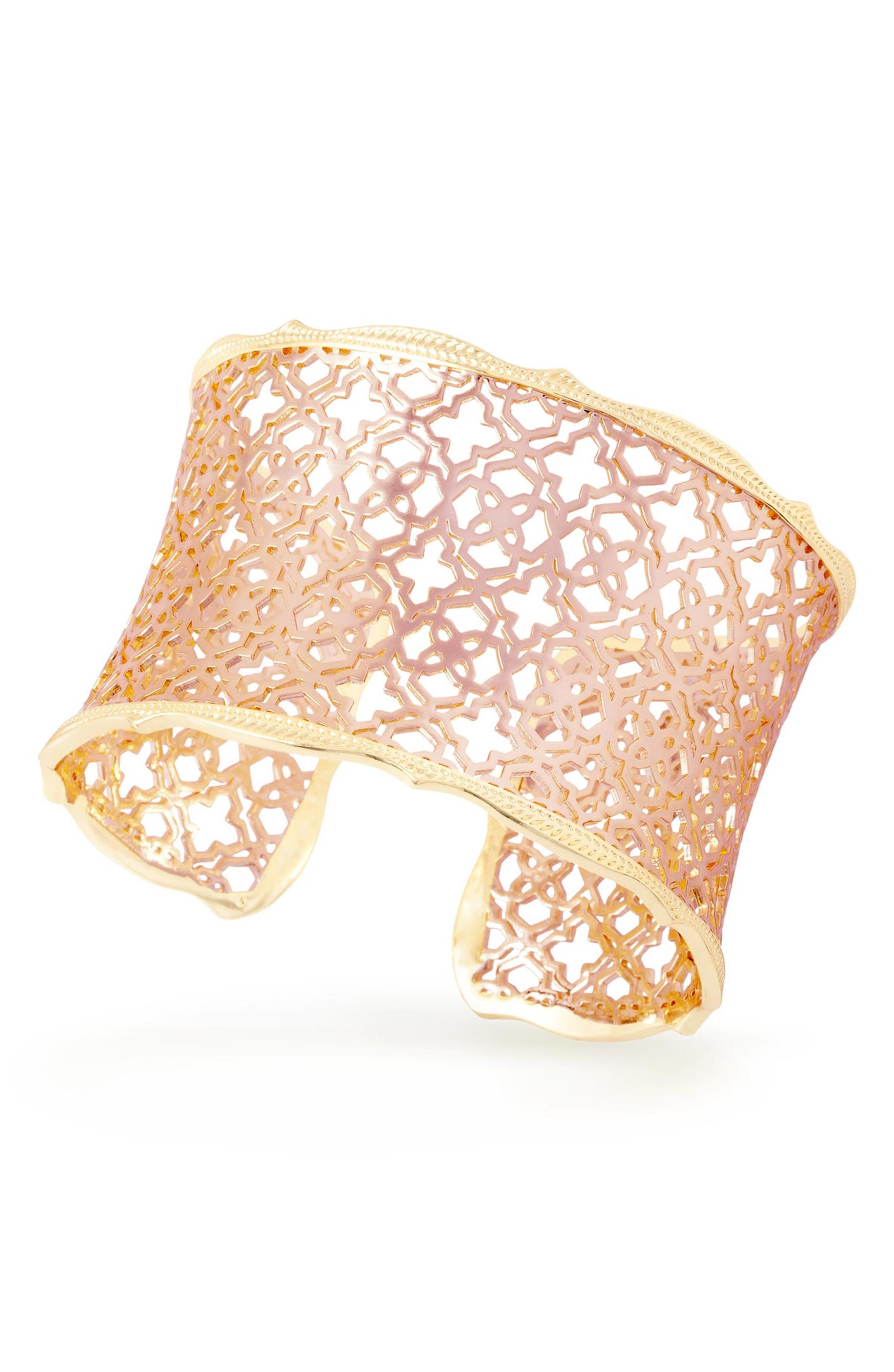 'Mystic Bazaar - Candice' Wide Cuff,                             Alternate thumbnail 3, color,                             Rose Gold/ Gold