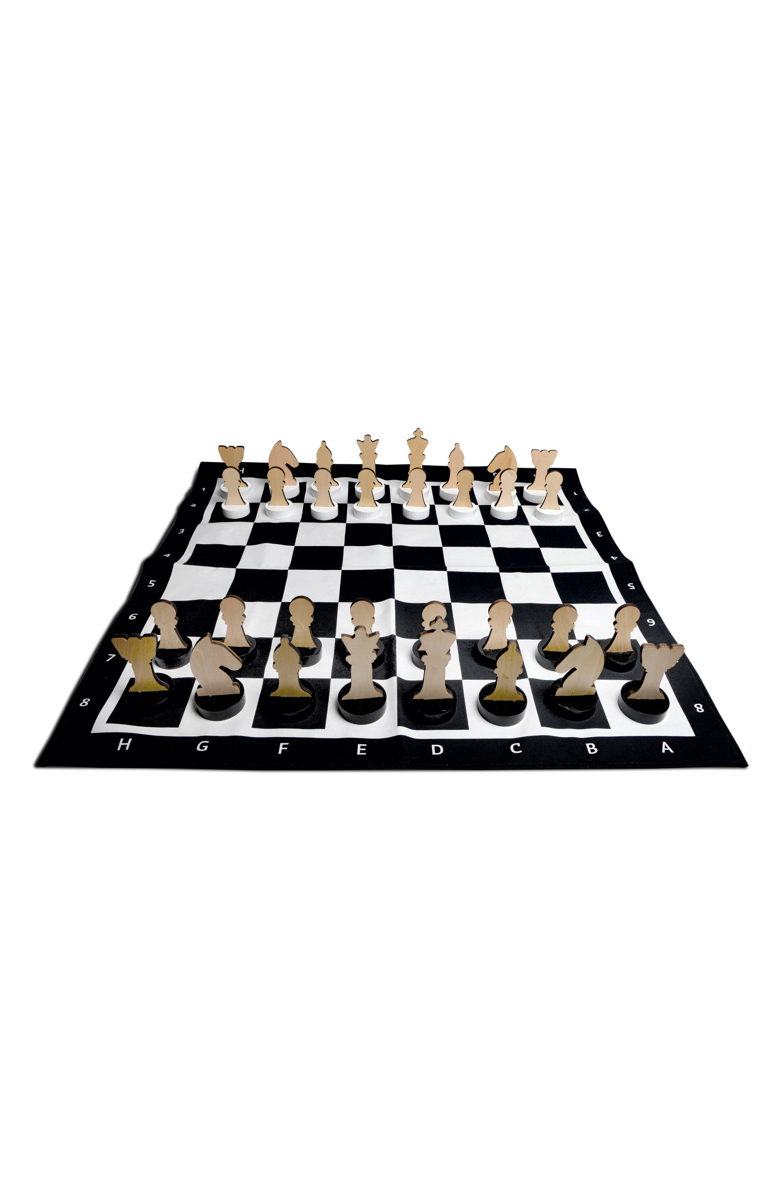 XL Indoor/Outdoor Chess Game,                             Alternate thumbnail 3, color,                             Black