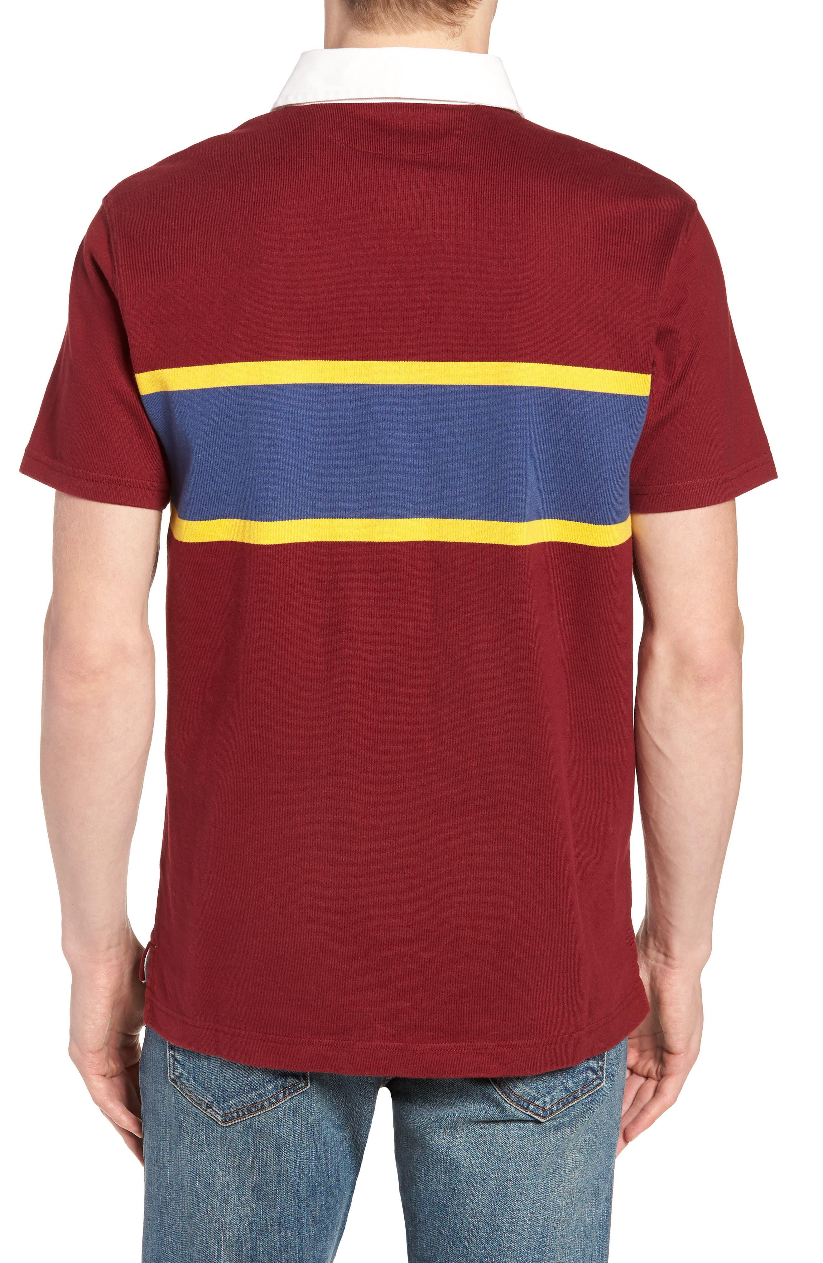 1984 Rugby Shirt,                             Alternate thumbnail 2, color,                             Mahogany