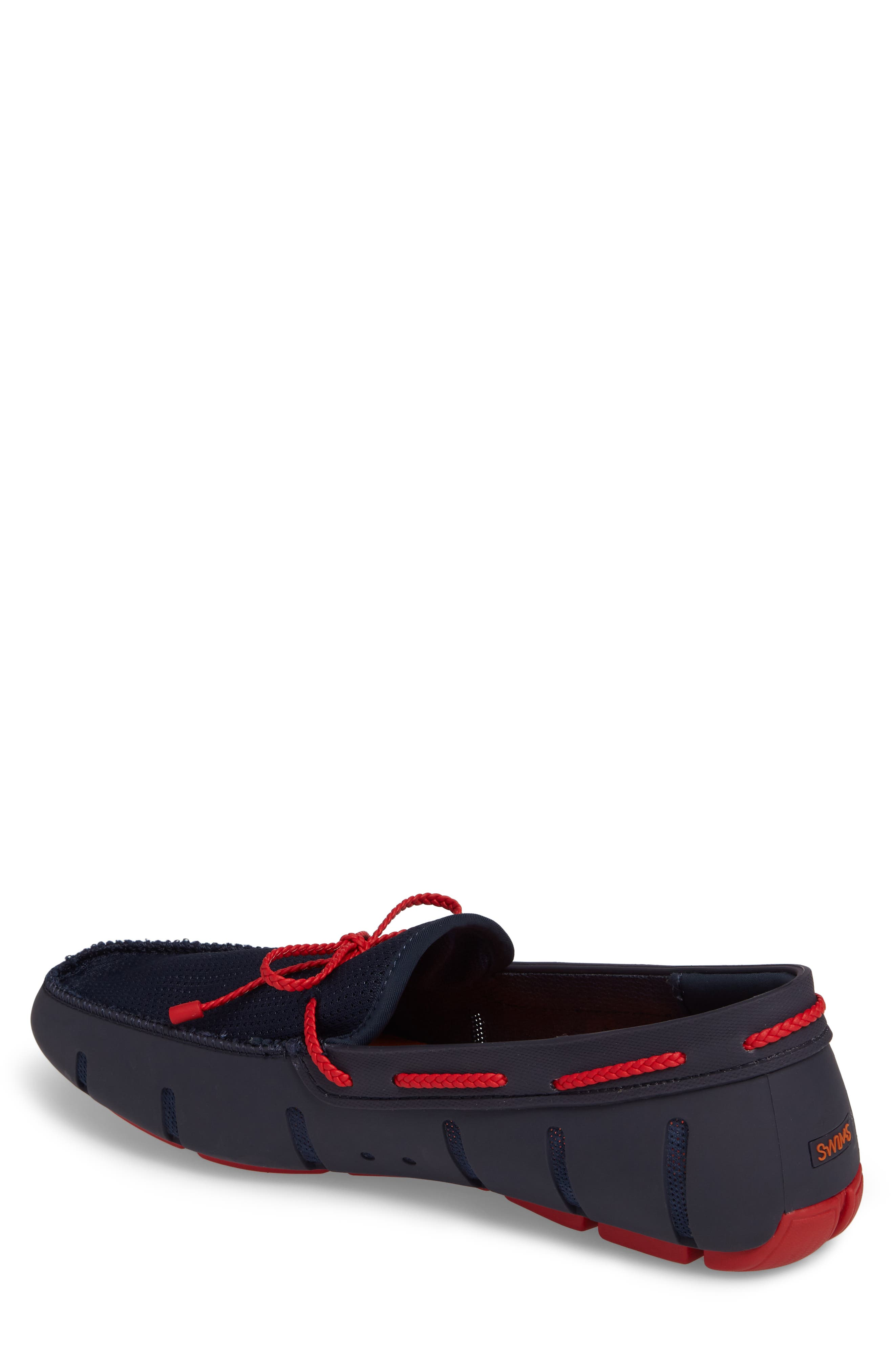 Lace Loafer,                             Alternate thumbnail 2, color,                             Navy/ Navy/ Red