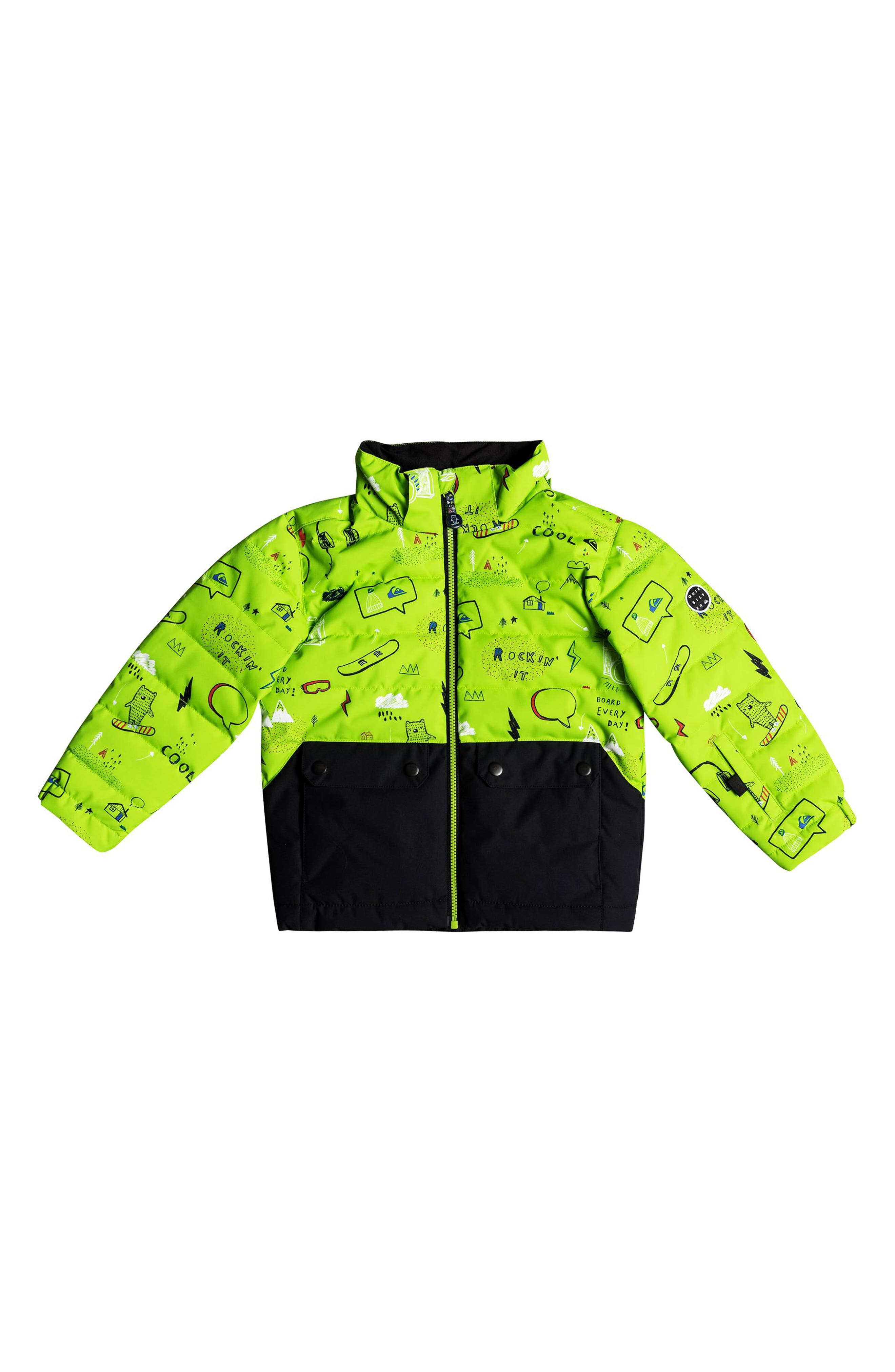 Edgy Waterproof Hooded Faux Fur Jacket,                             Alternate thumbnail 2, color,                             Lime Green