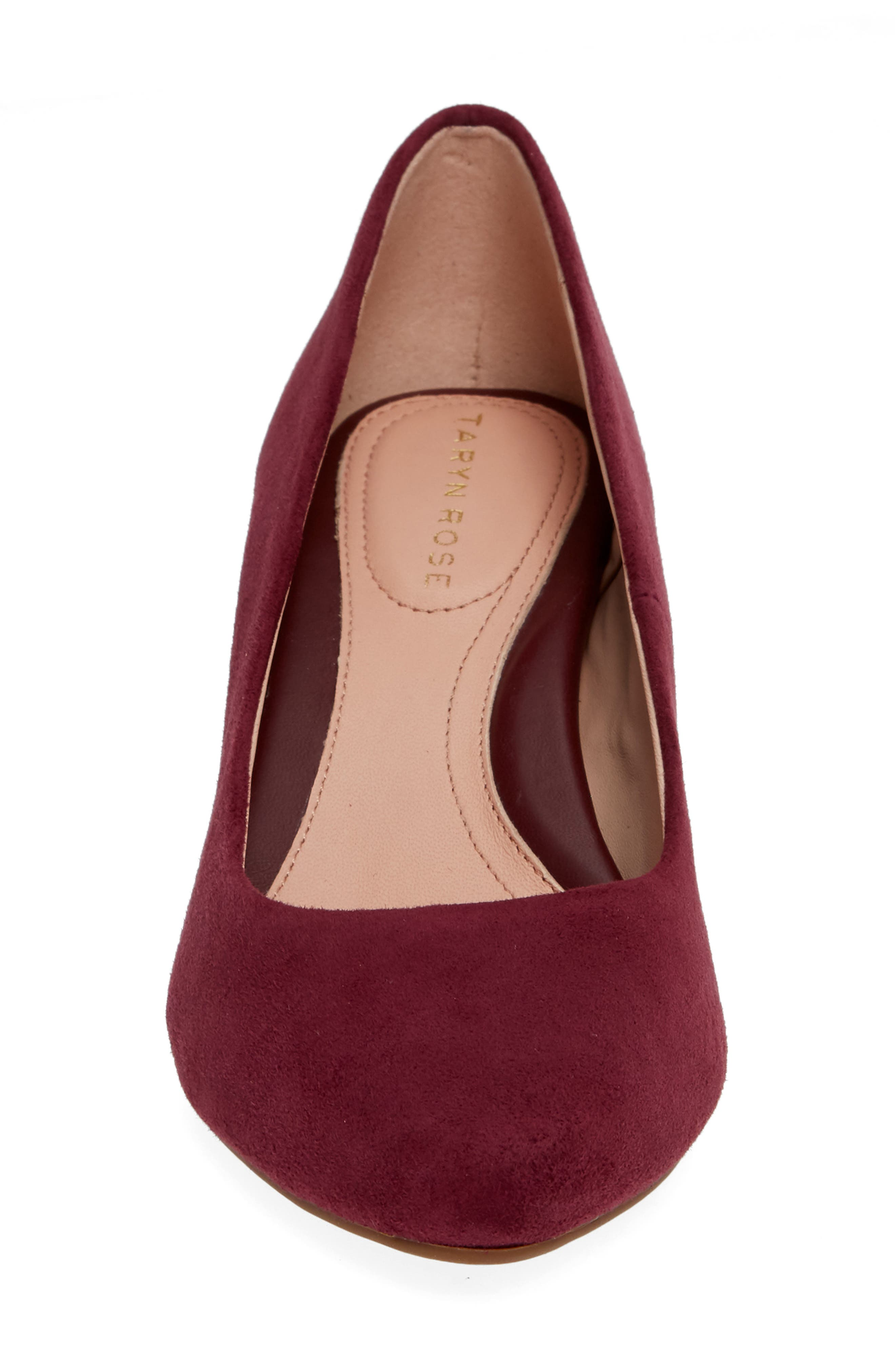 Rochelle Block Heel Pump,                             Alternate thumbnail 6, color,                             Fig Suede