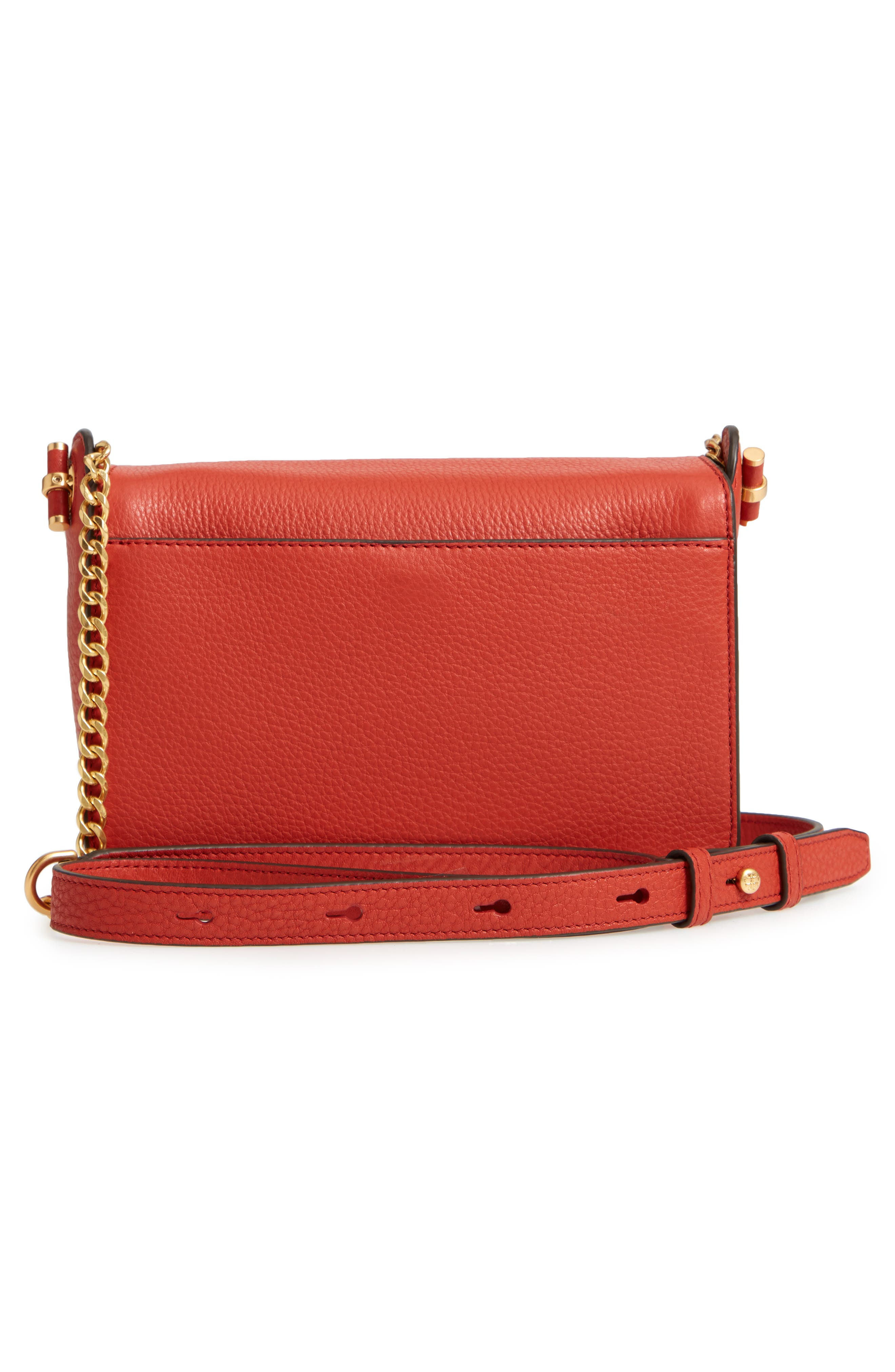 Chelsea Leather Crossbody Bag,                             Alternate thumbnail 3, color,                             Kola