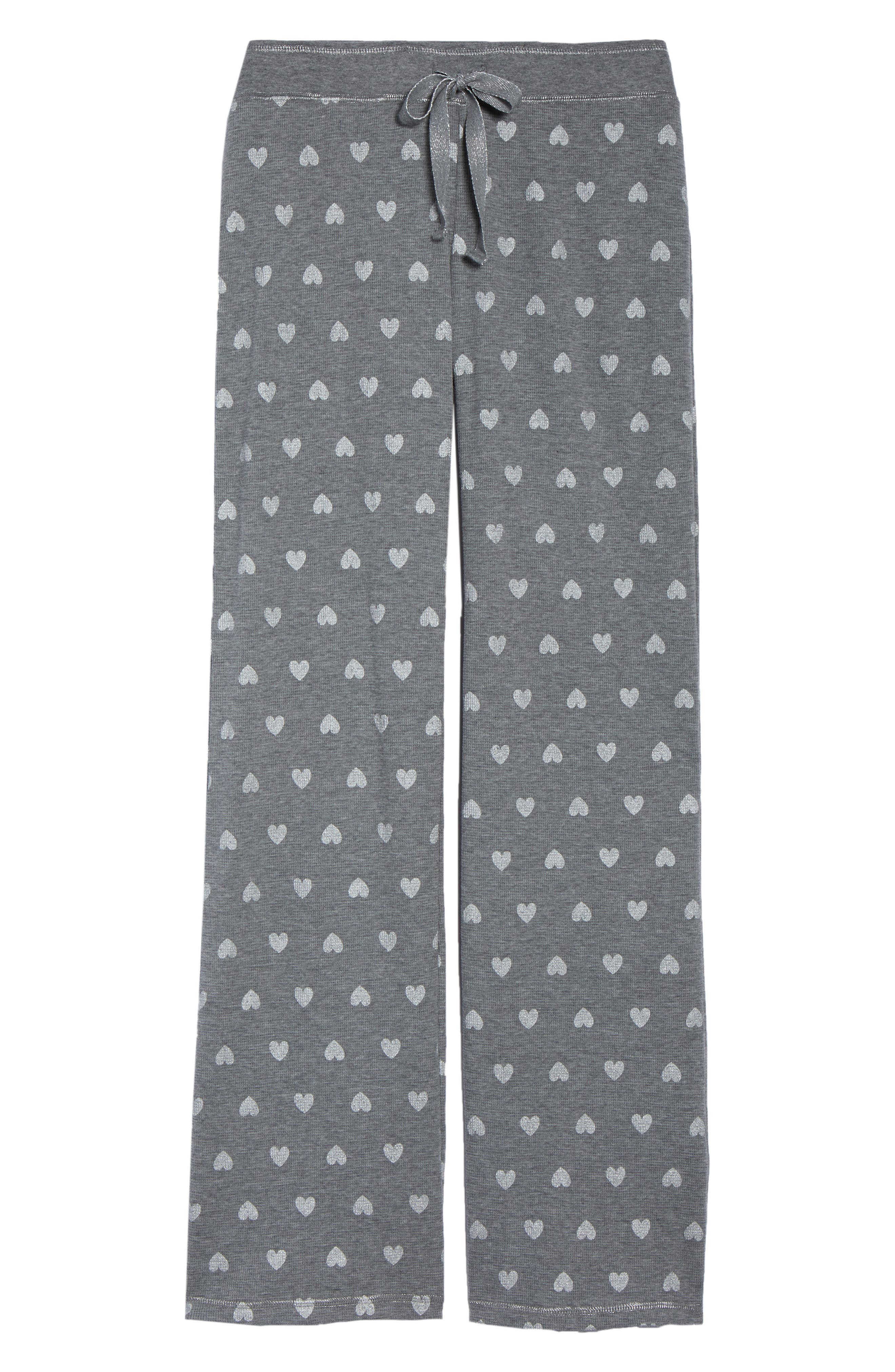 Wild Heart Thermal Lounge Pants,                             Alternate thumbnail 7, color,                             H Grey