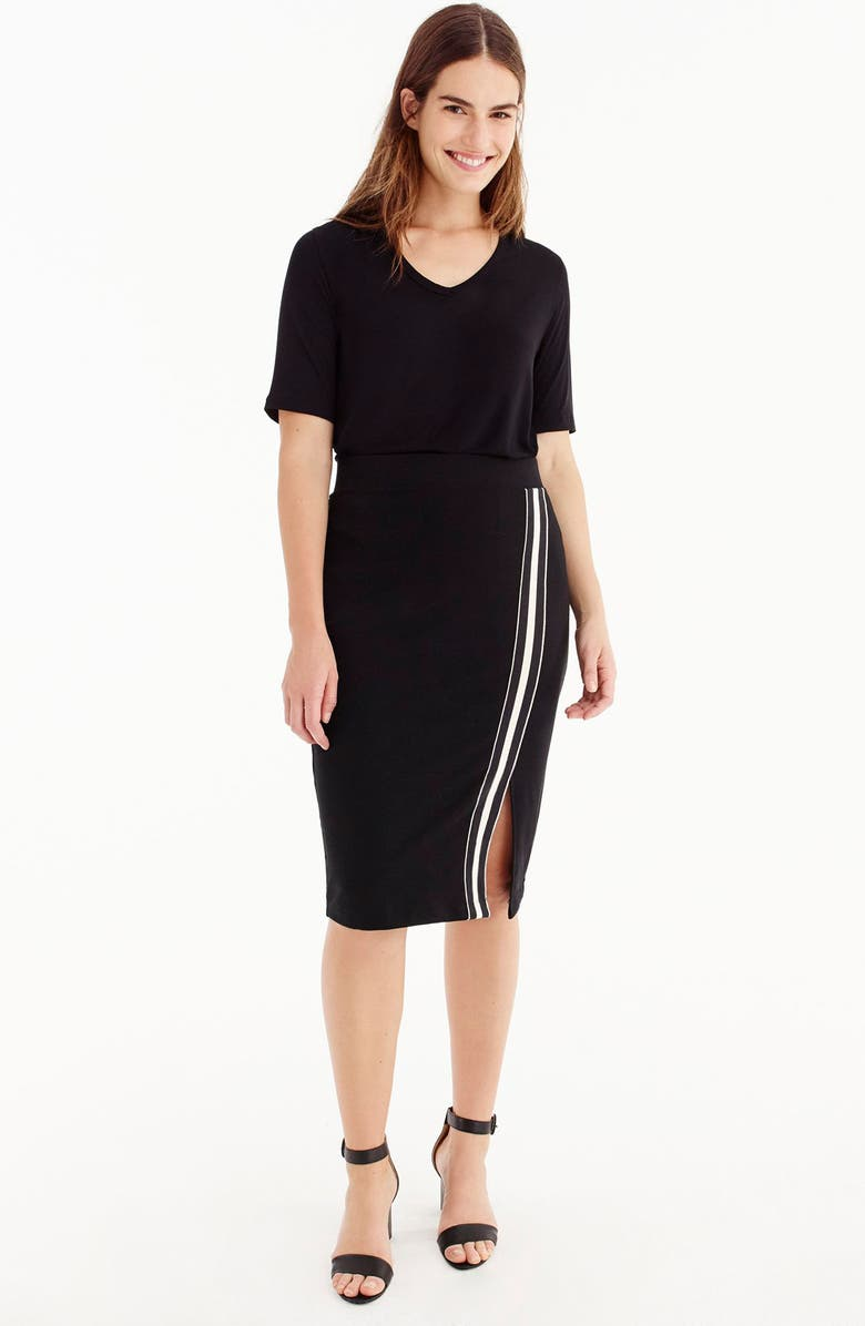 for J.Crew Track Stripe Slit French Terry Skirt