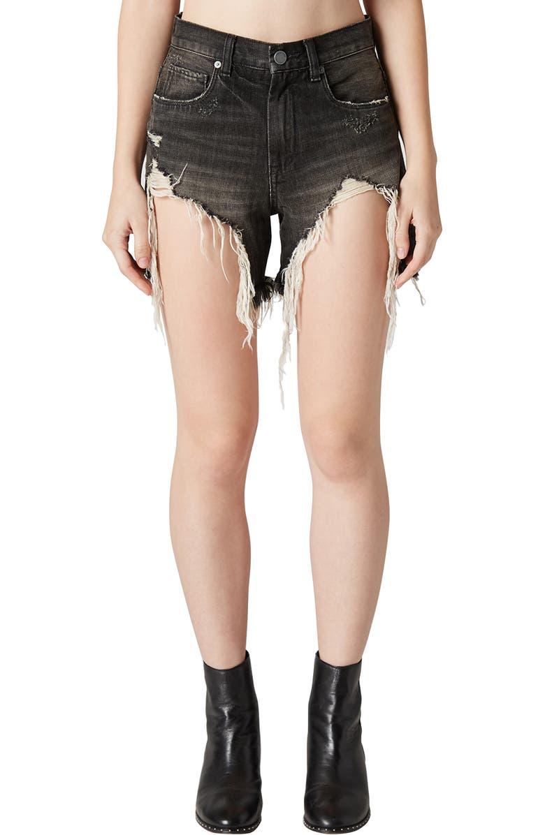 Distressed Denim Mom Shorts