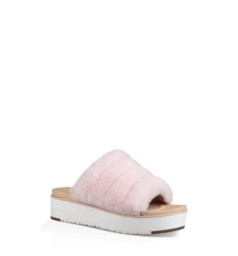 90f8fdd66fe Ugg Fluff Yeah Genuine Shearling Slide Sandal In Seashell Pink ...