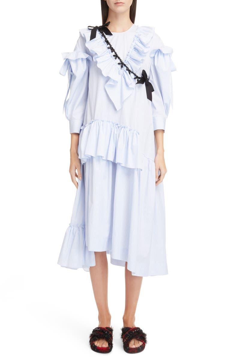 Stripe Ruffle Bow Dress