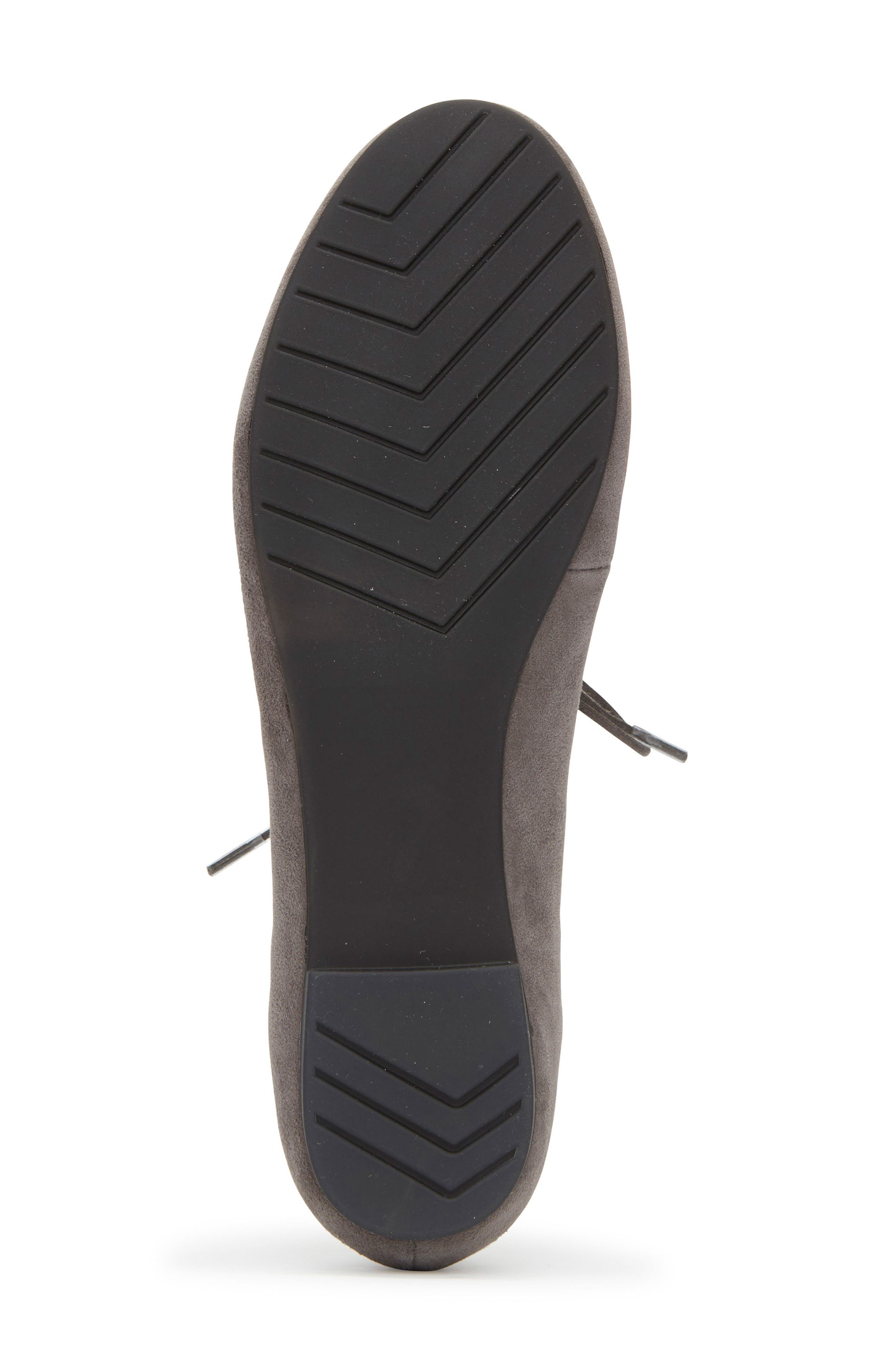 Cacey Mary Jane Flat,                             Alternate thumbnail 6, color,                             Charcoal Suede