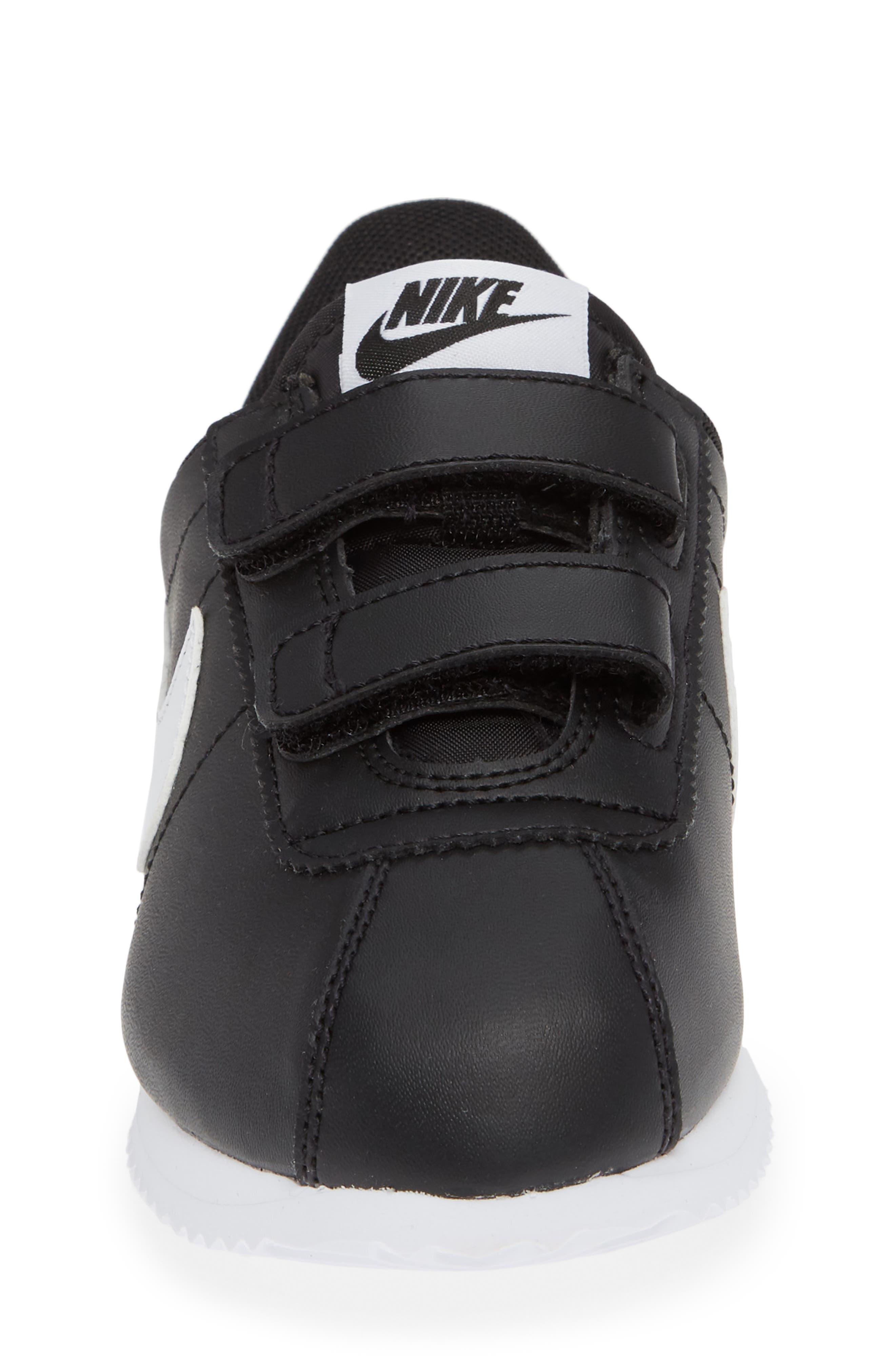 Cortez Basic SL Sneaker,                             Alternate thumbnail 5, color,                             Black/ White