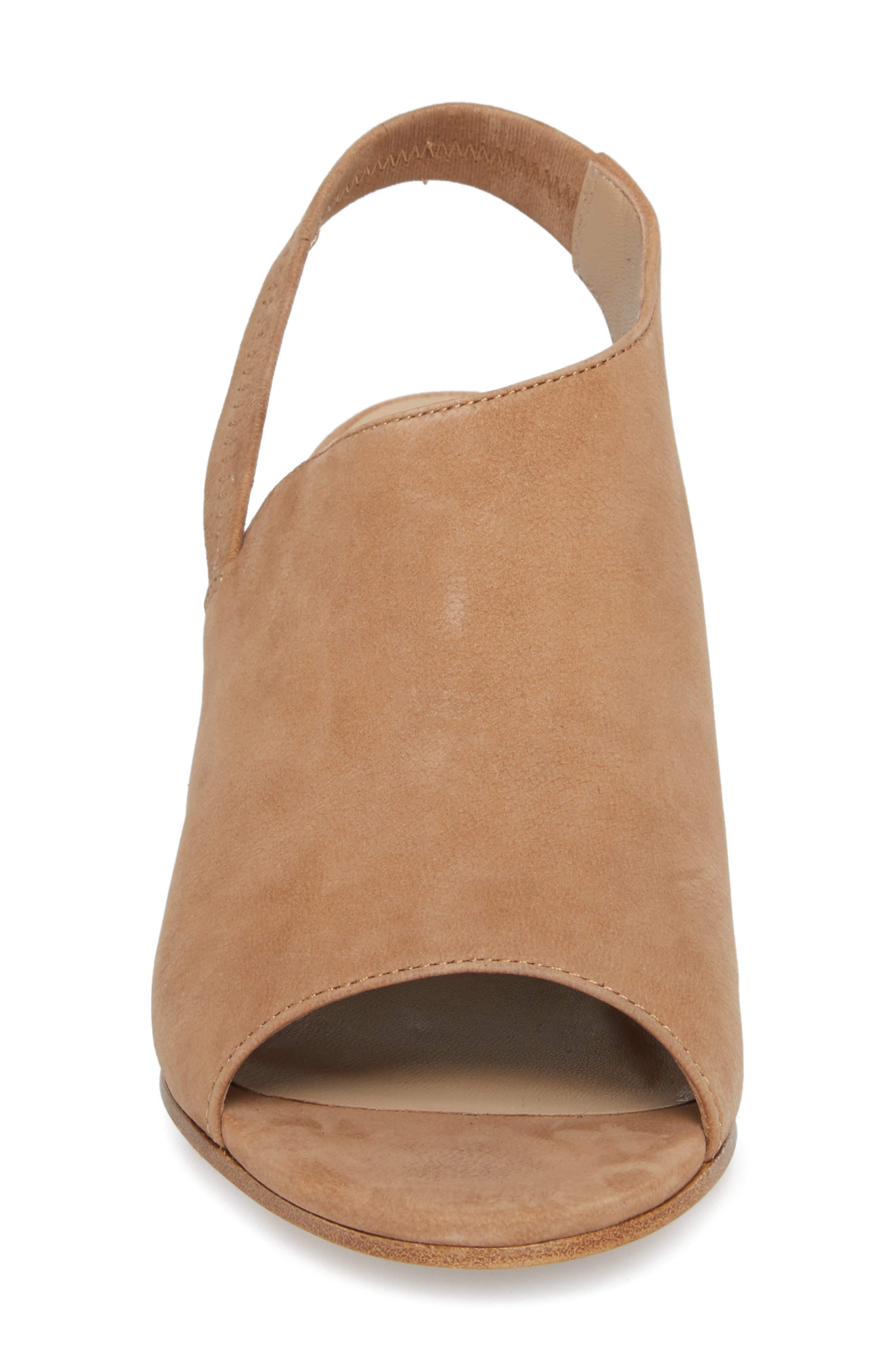 Leigh Asymmetrical Slingback Sandal,                             Alternate thumbnail 5, color,                             Wheat Leather