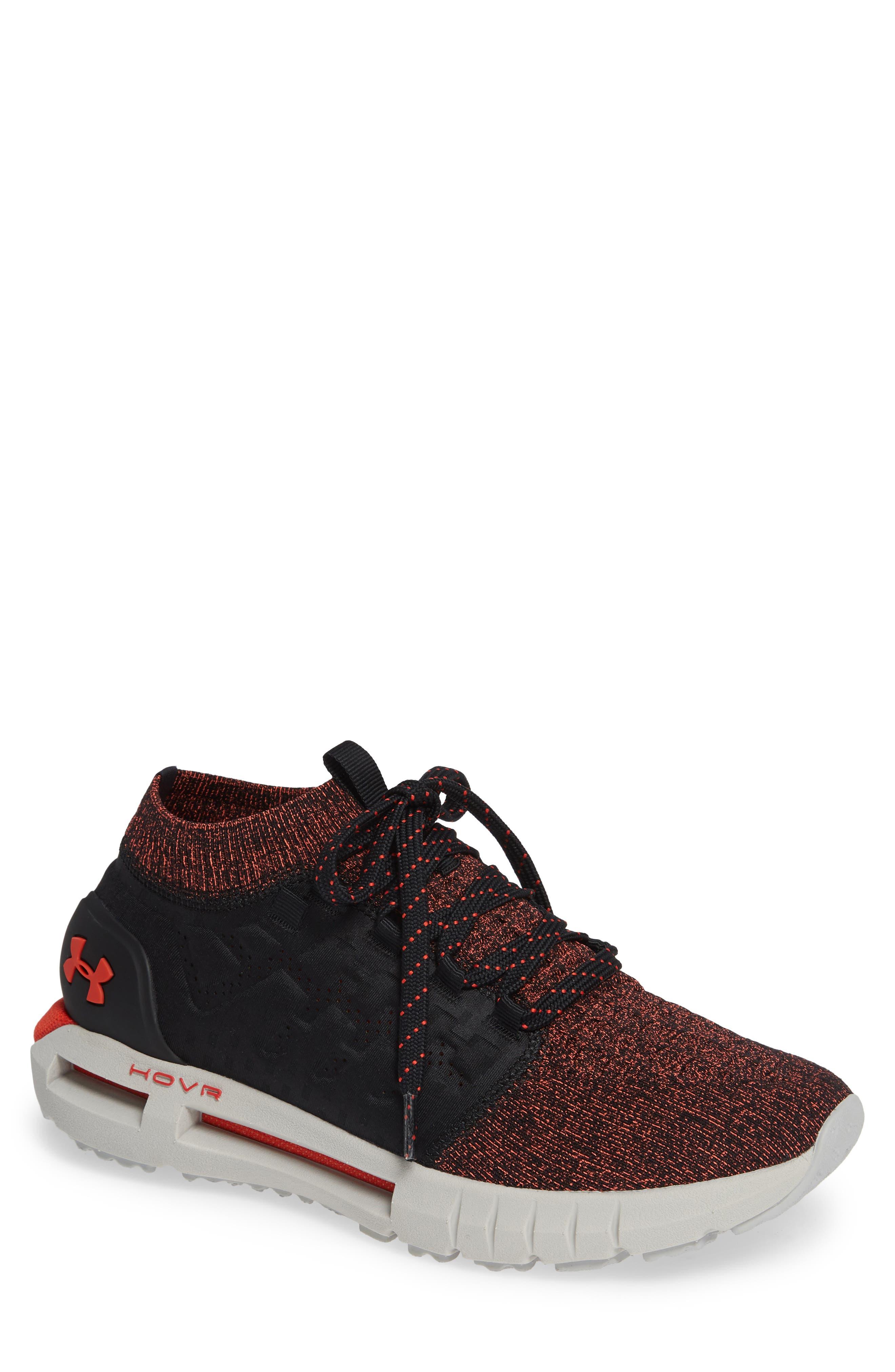 HOVR Phantom NC Sneaker,                         Main,                         color, Black/ Ghost Grey/ Radio Red