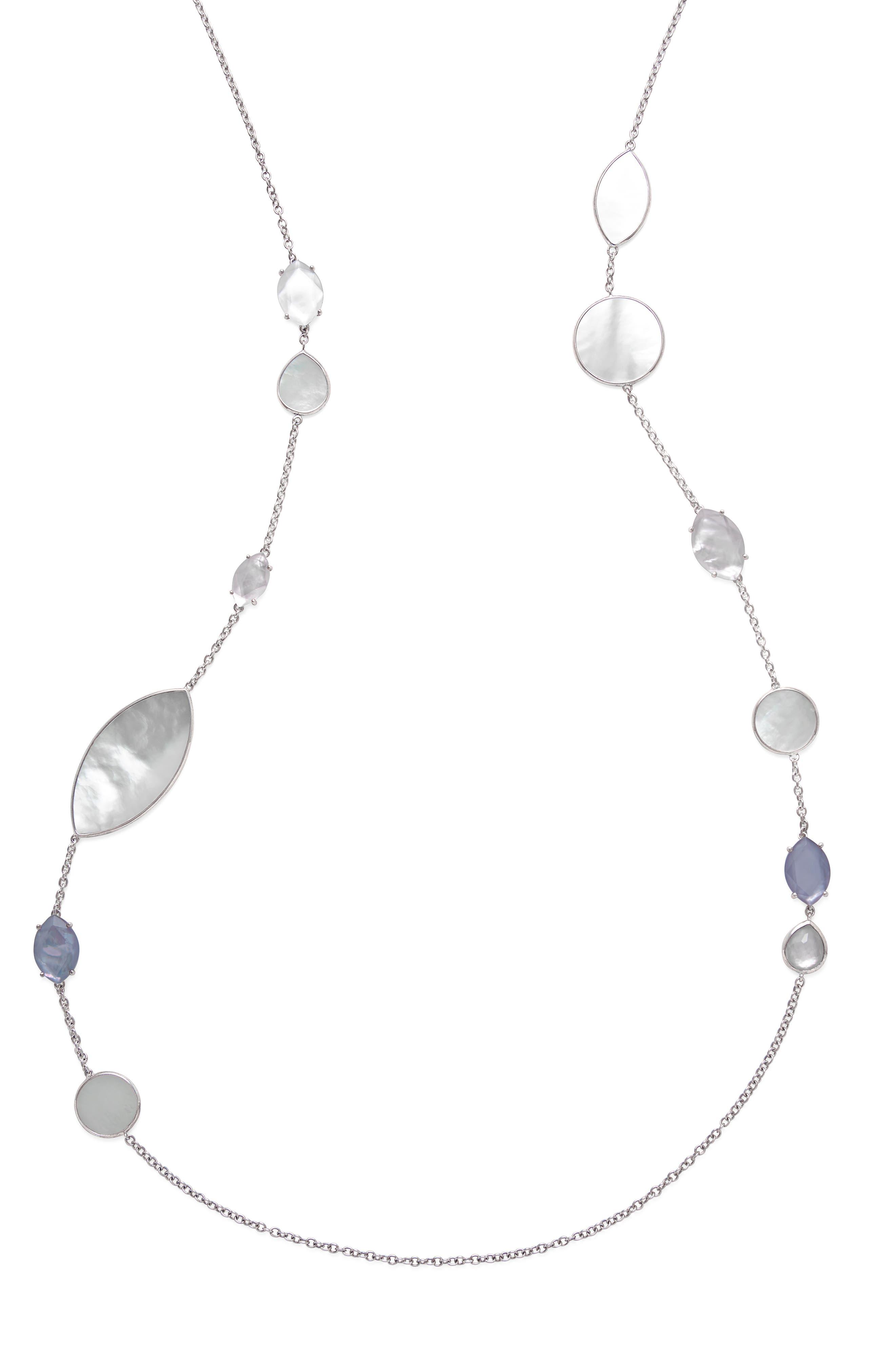 Wonderland Long Marquise Stone Necklace,                             Alternate thumbnail 2, color,                             Primrose