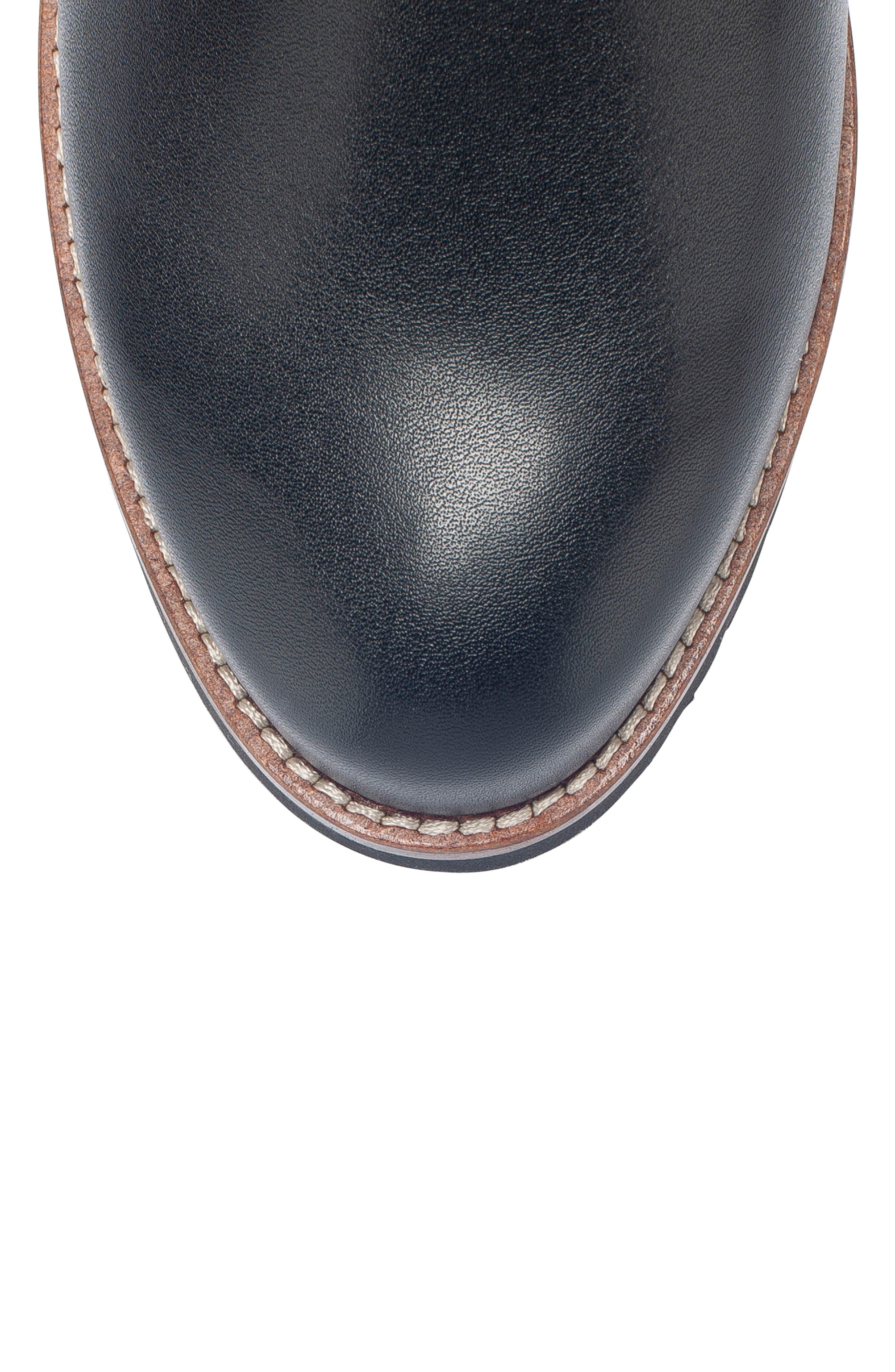 Roman Waterproof Bootie,                             Alternate thumbnail 5, color,                             Black Leather