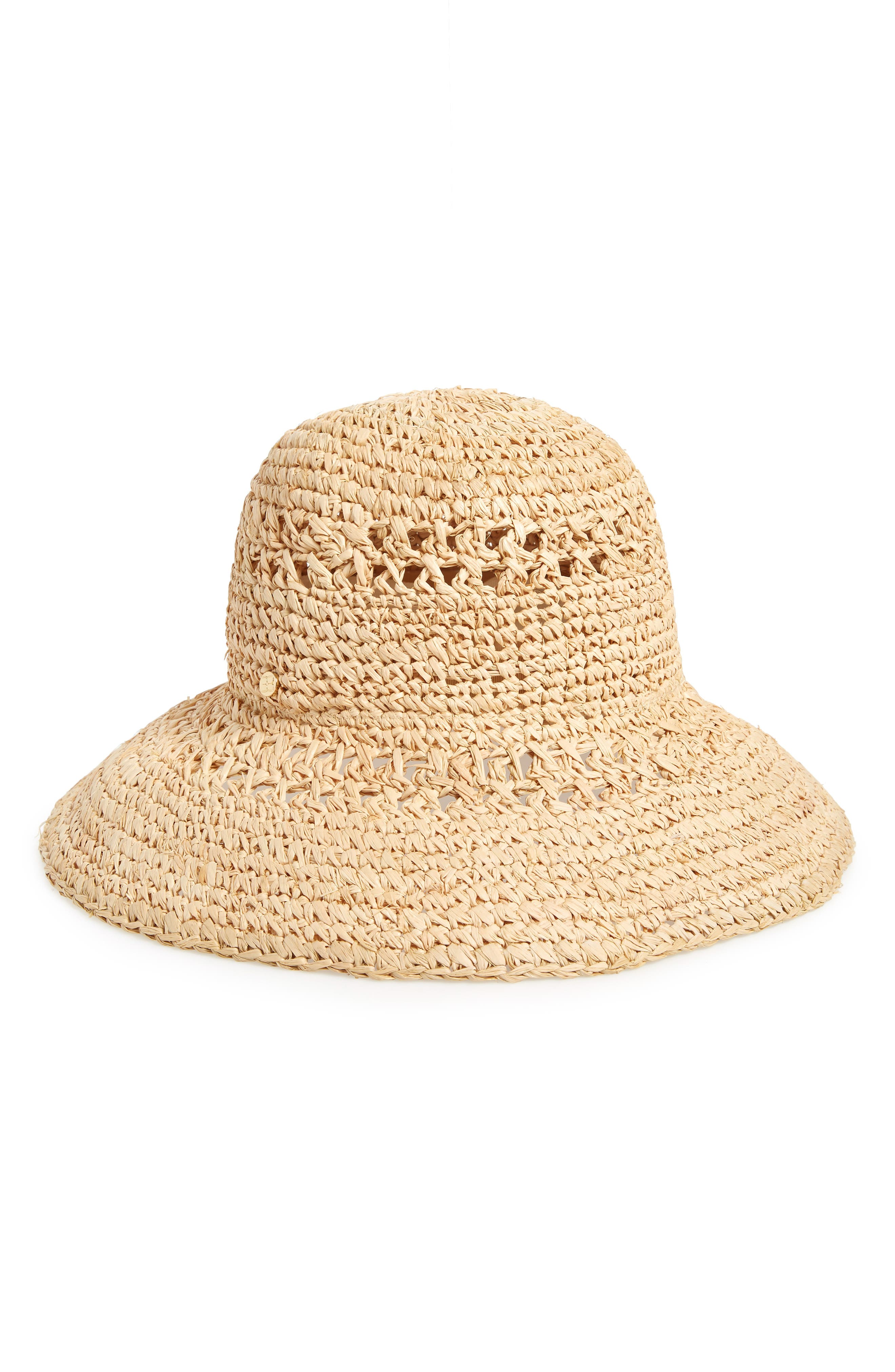 STRAW BUCKET HAT - BROWN