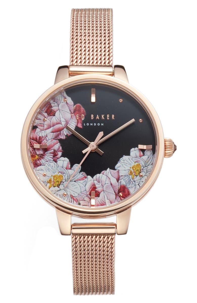 d6a89d2c22d0 Ted Baker Kate Mesh Strap Watch
