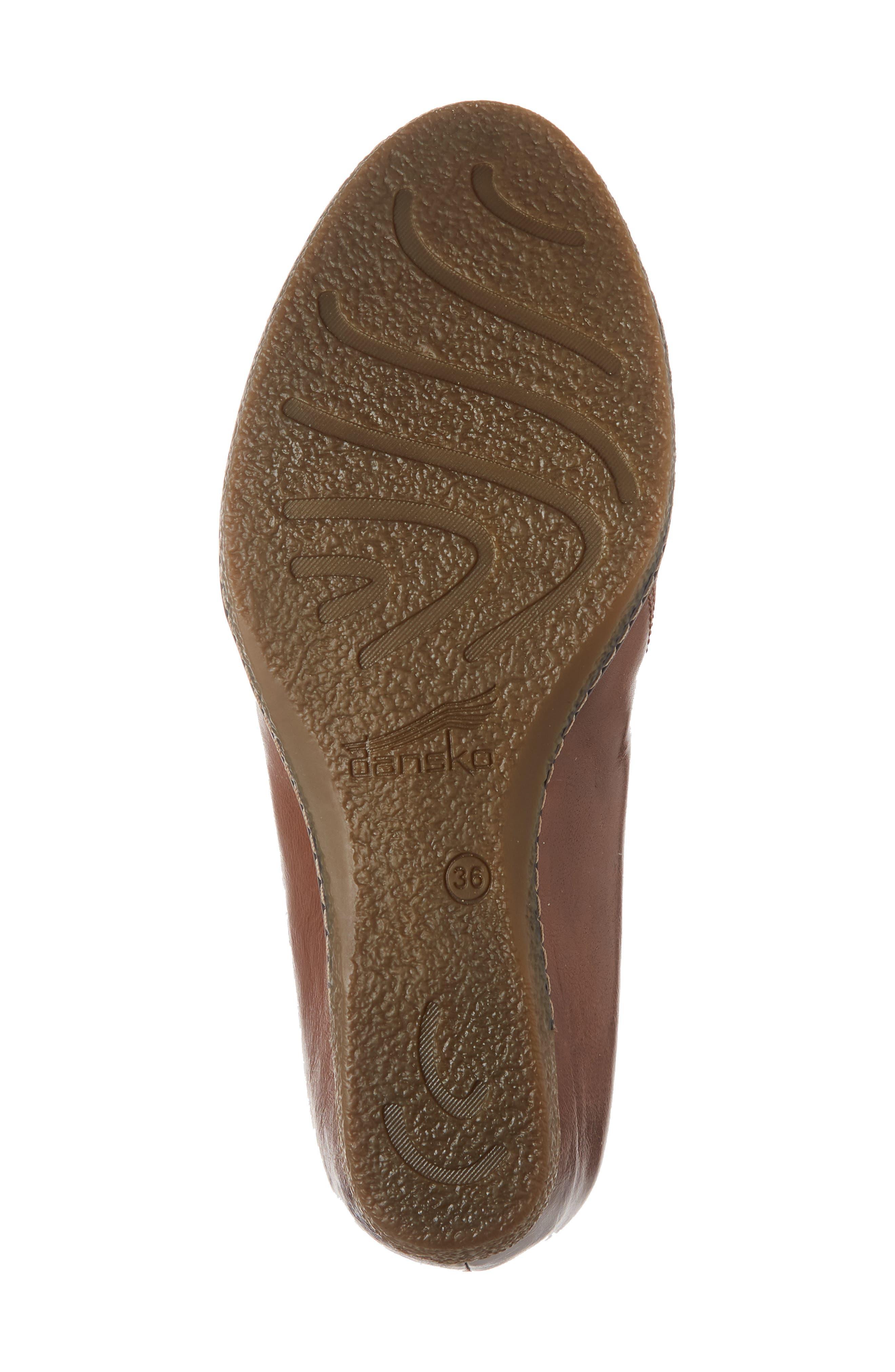Liliana Concealed Wedge Slip-On,                             Alternate thumbnail 2, color,                             Chestnut Burnished Leather