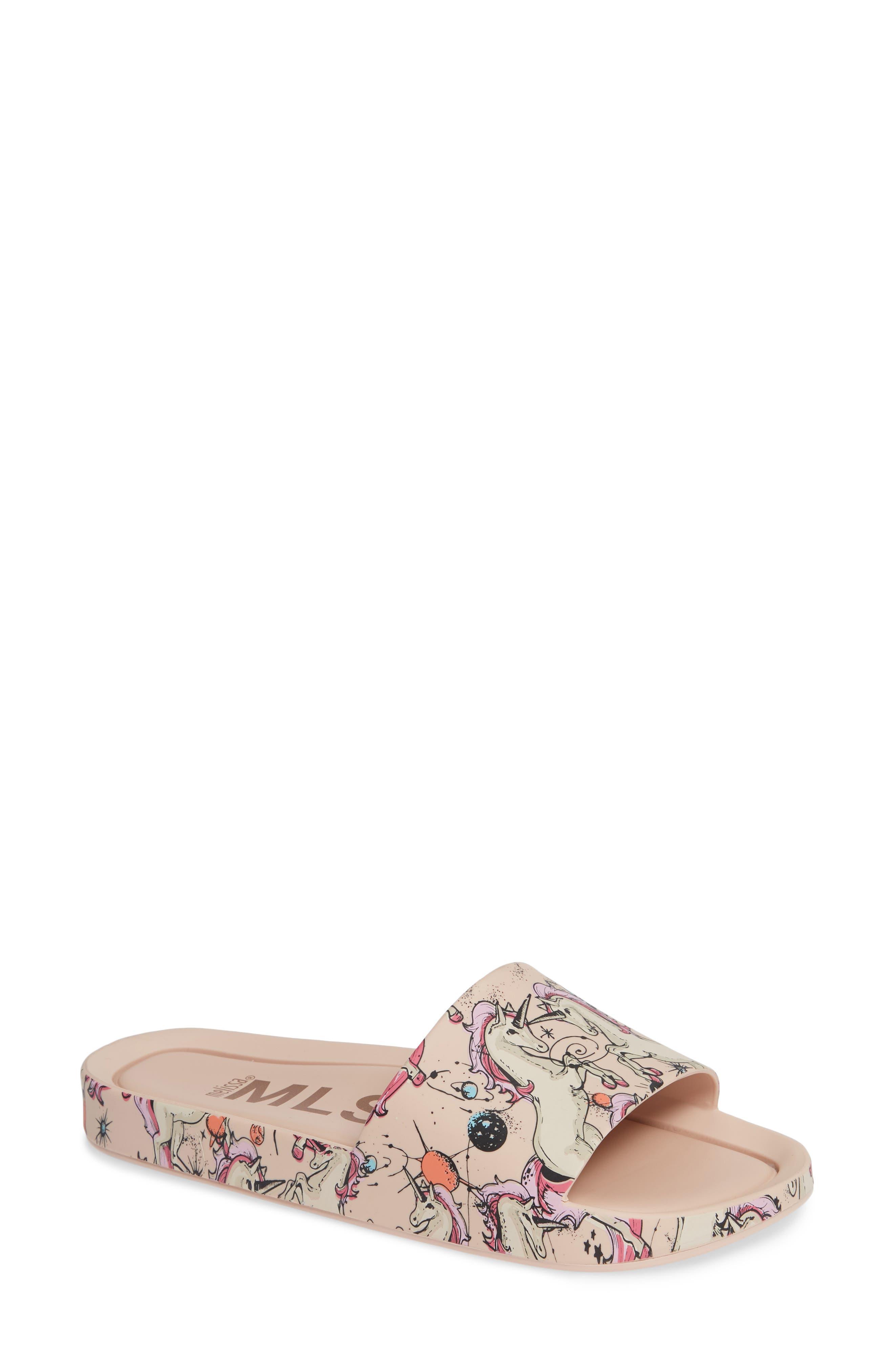 Beach Slide Sandal,                         Main,                         color, Pink Beige