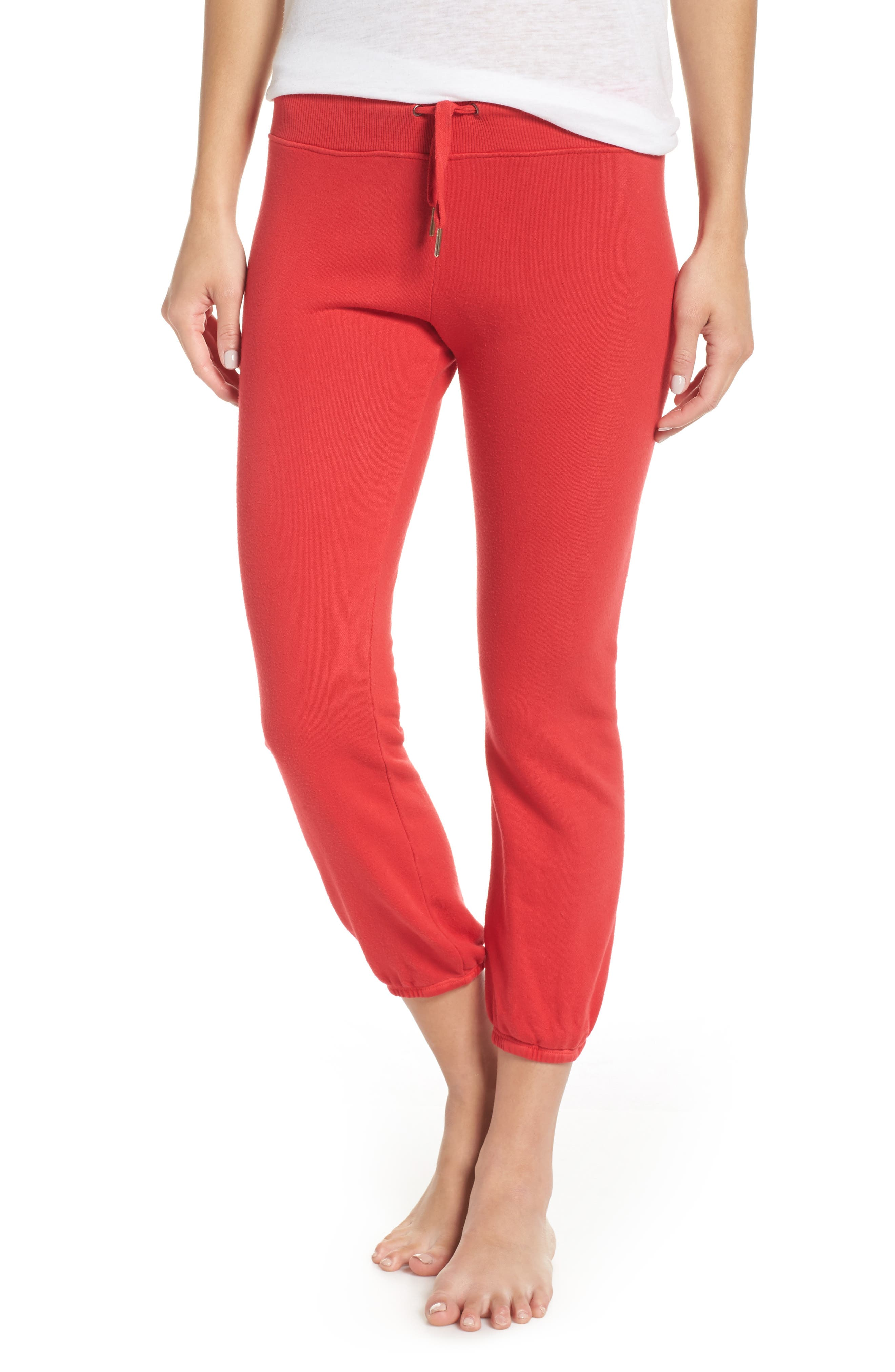 Loung Sweatpants,                         Main,                         color, Poppy
